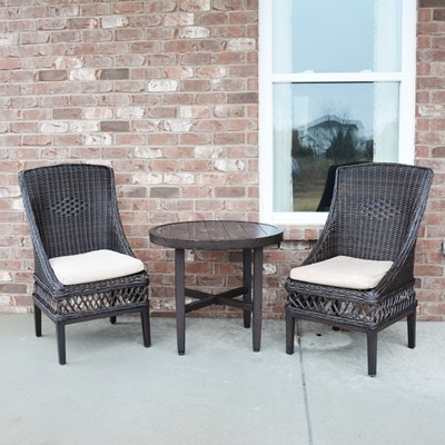 Hampton Bay Patio Chairs With Accent Table