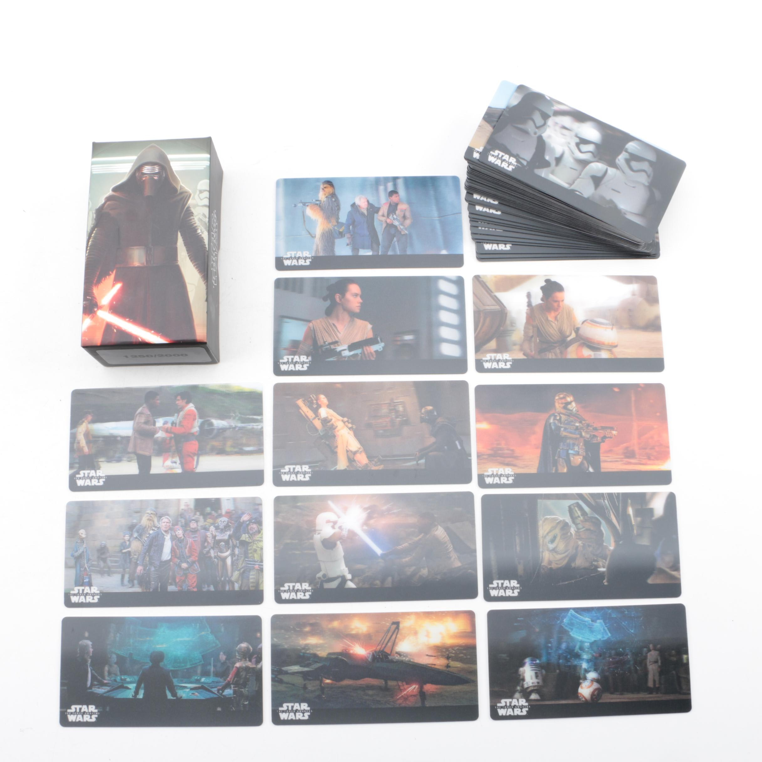 """Limited Edition """"Star Wars: The Force Awakens"""" Holographic Trading Cards"""
