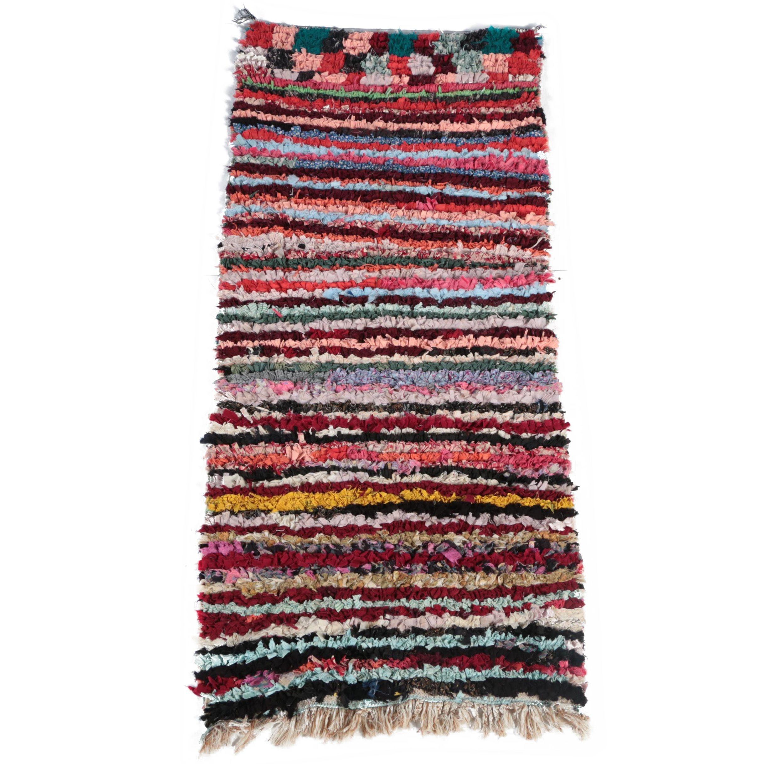 Handwoven Moroccan Boucherouite Area Rug
