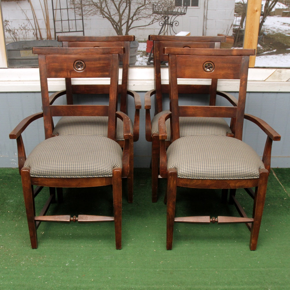 Set of Four Regency Style Armchairs by Lorts Manufacturing