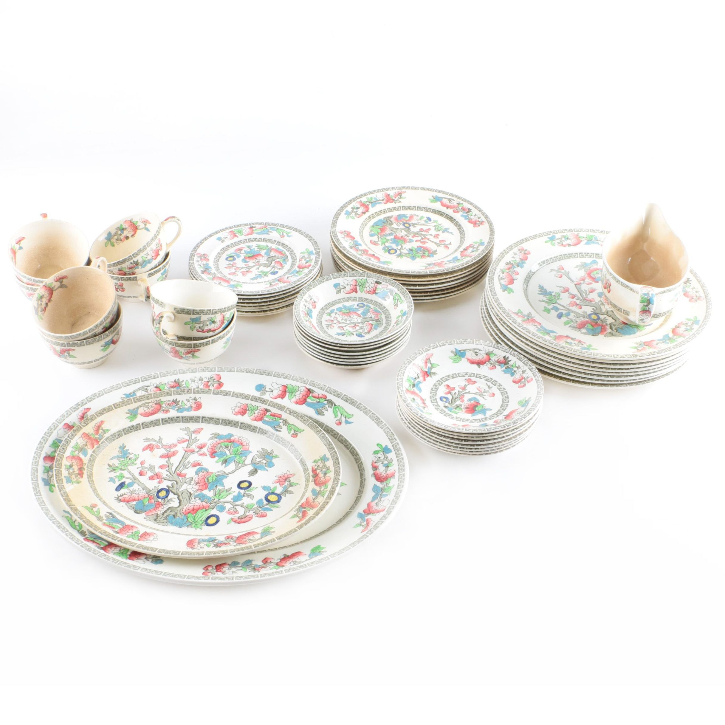 """Johnson Brother's """"Indian Tree"""" Tableware"""