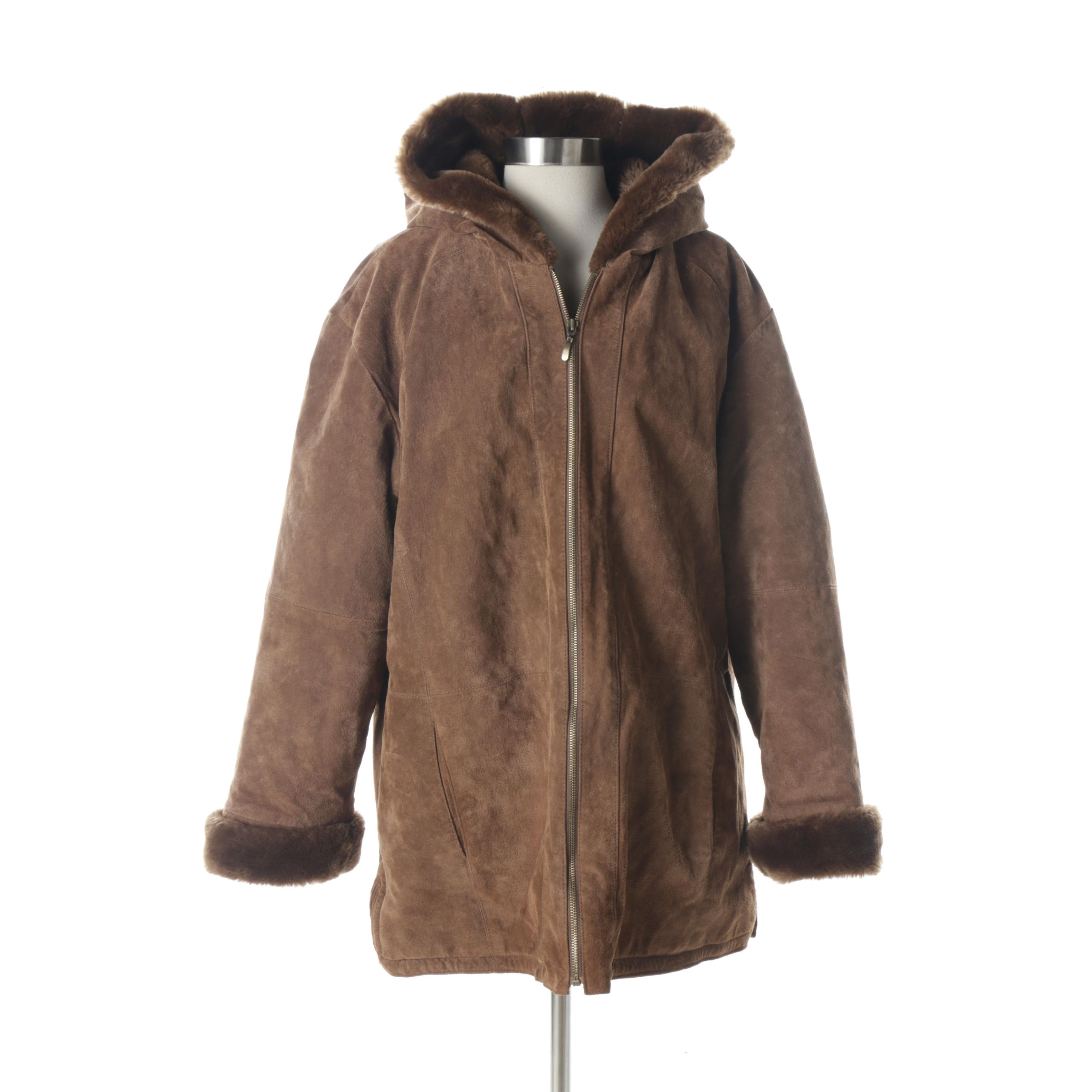 St. John's Bay Suede Coat