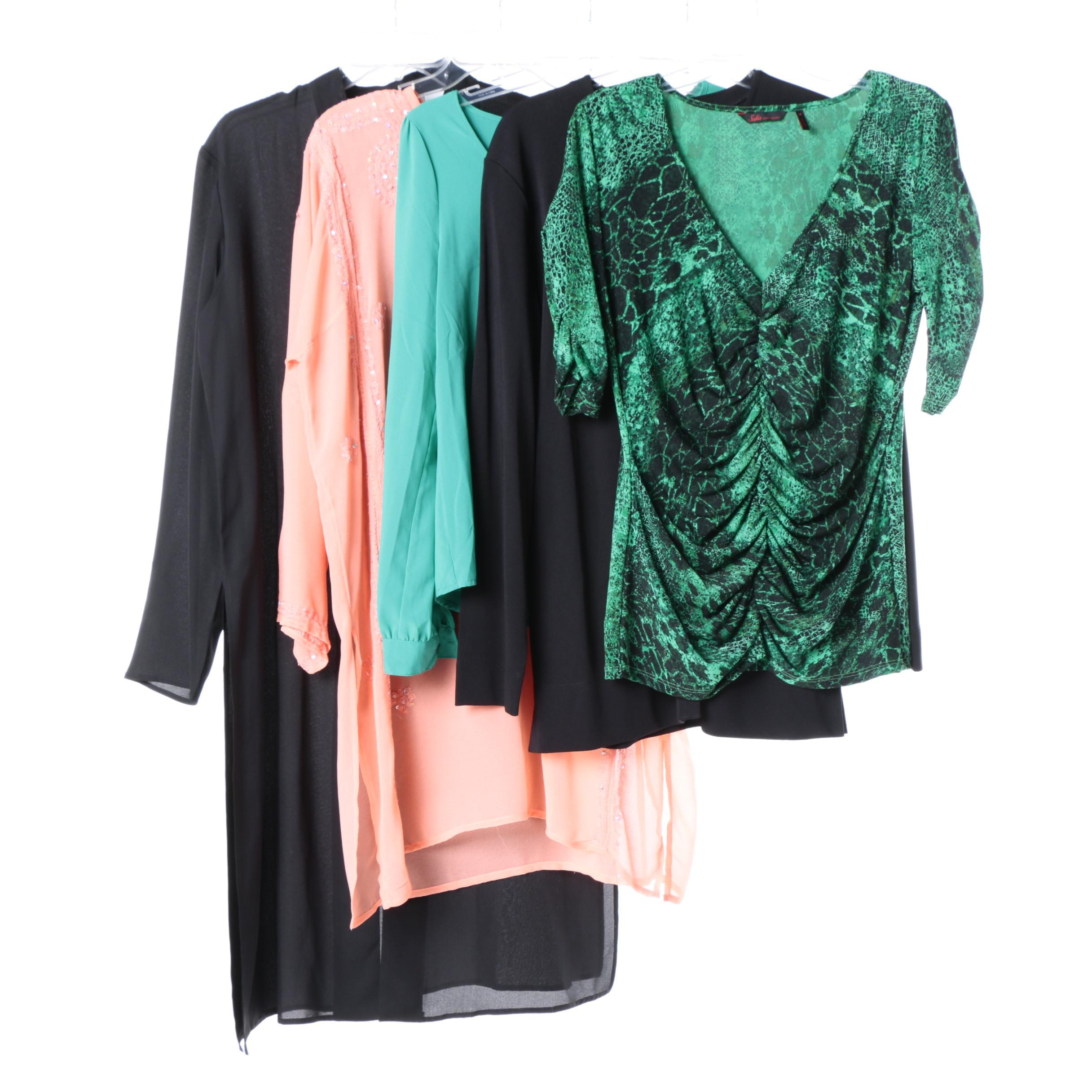 Women's Blouse and Tunic Collection Including Silk
