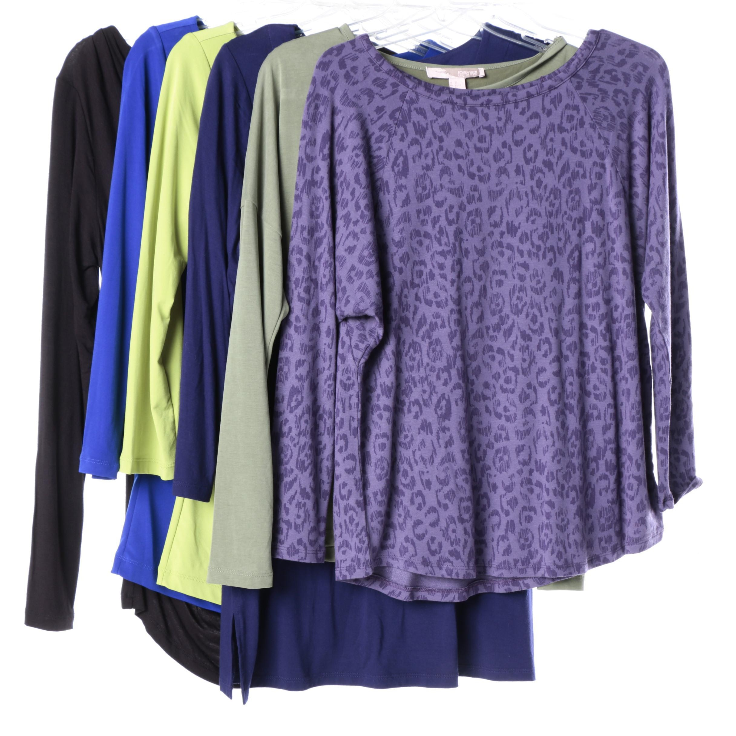 Women's Long Sleeved T-shirts, Including Adrianna Papell
