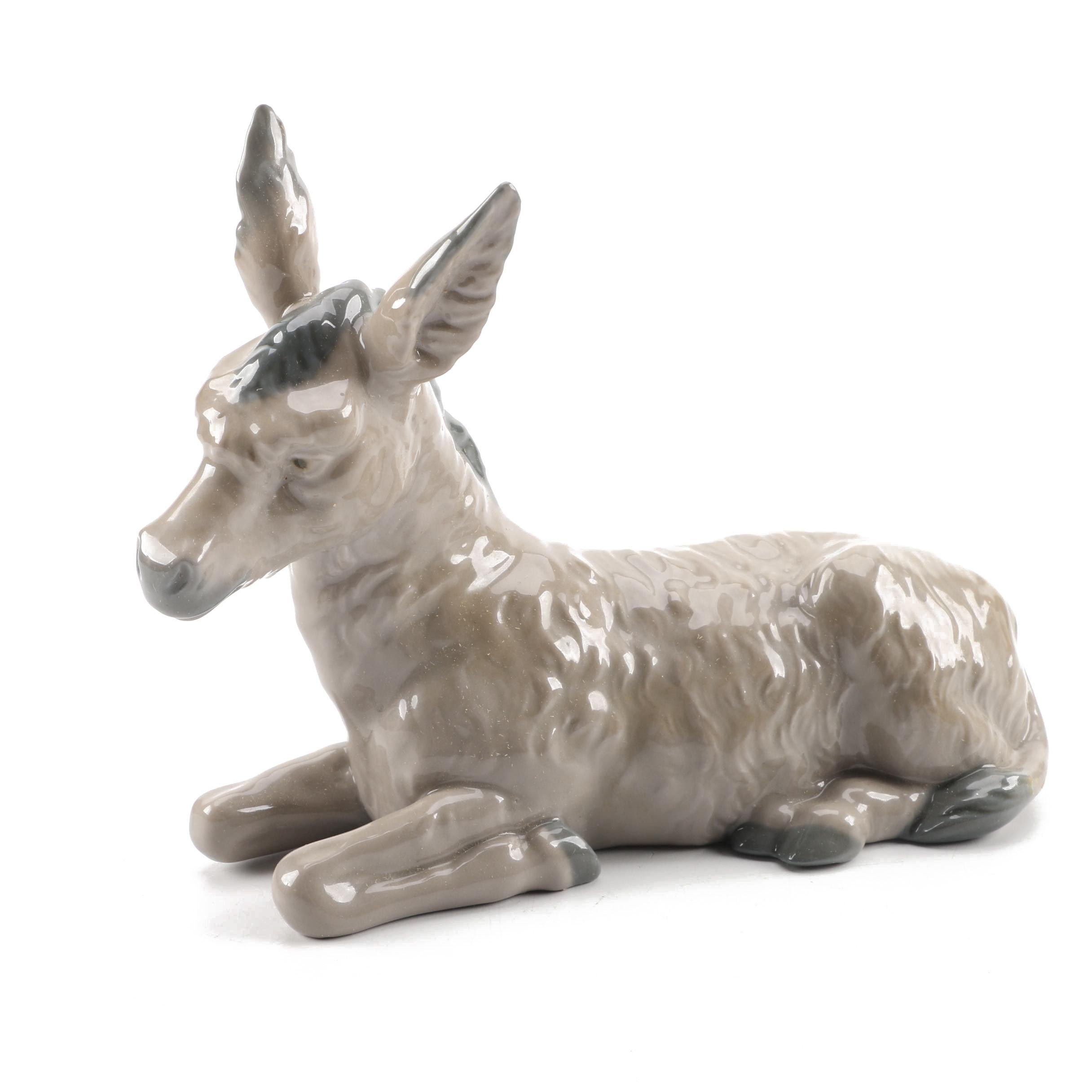 Vintage Nao by Lladro Donkey Figurine