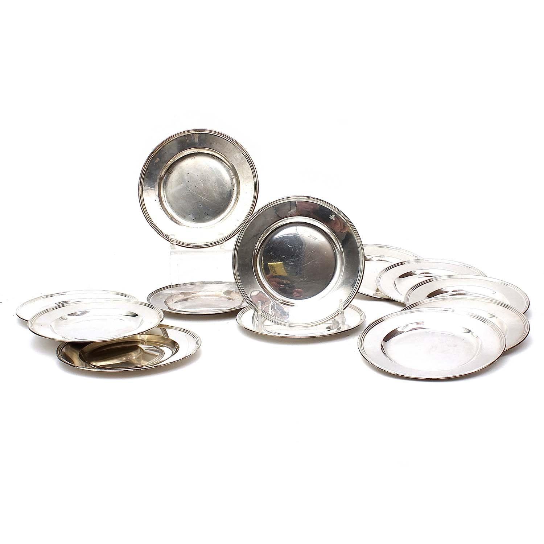 Vintage Sterling Silver Plates