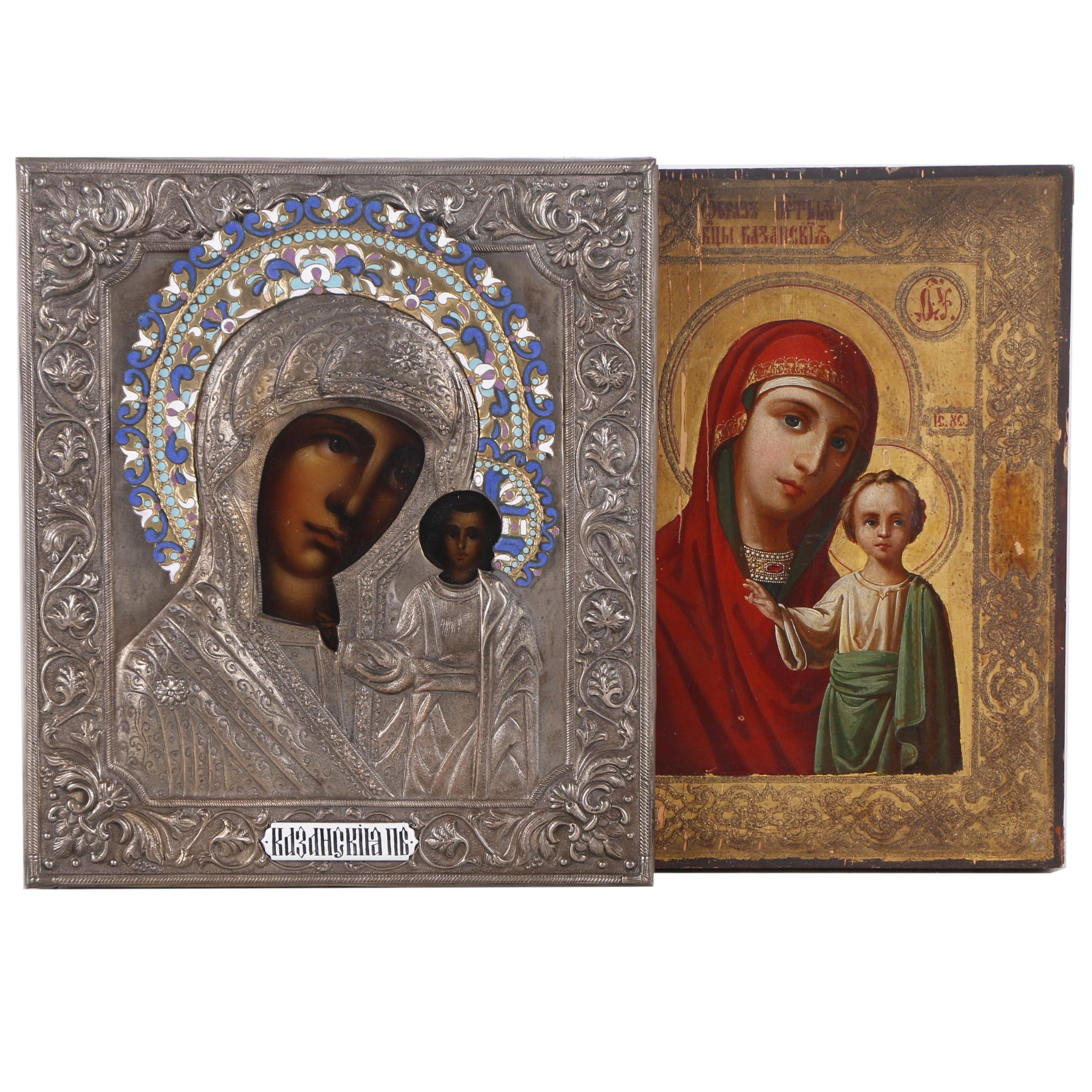 Eastern Orthodox Icons of Madonna and Child