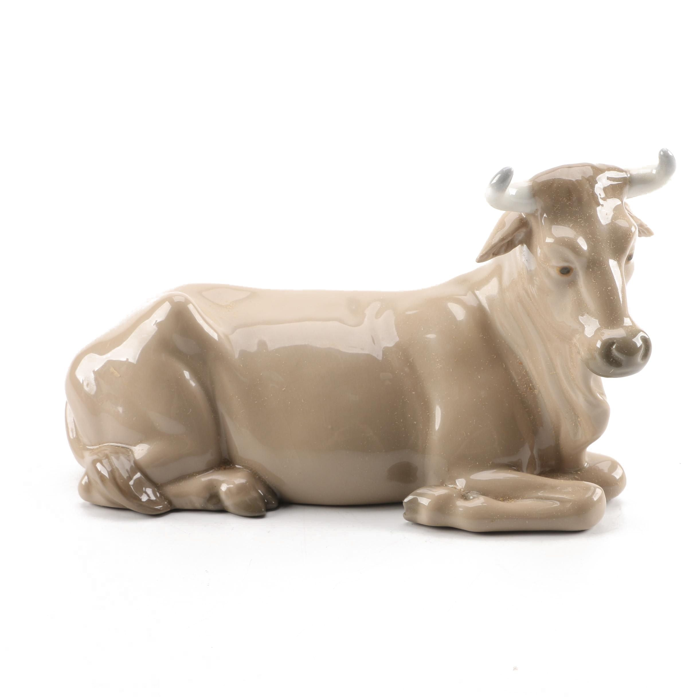 Vintage Nao by Lladro Cow Figurine