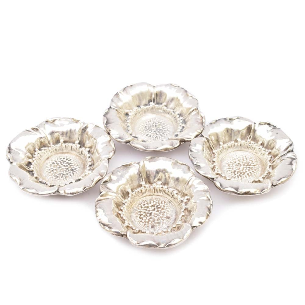 Gorham Sterling Silver Poppy Flower Nut Dishes