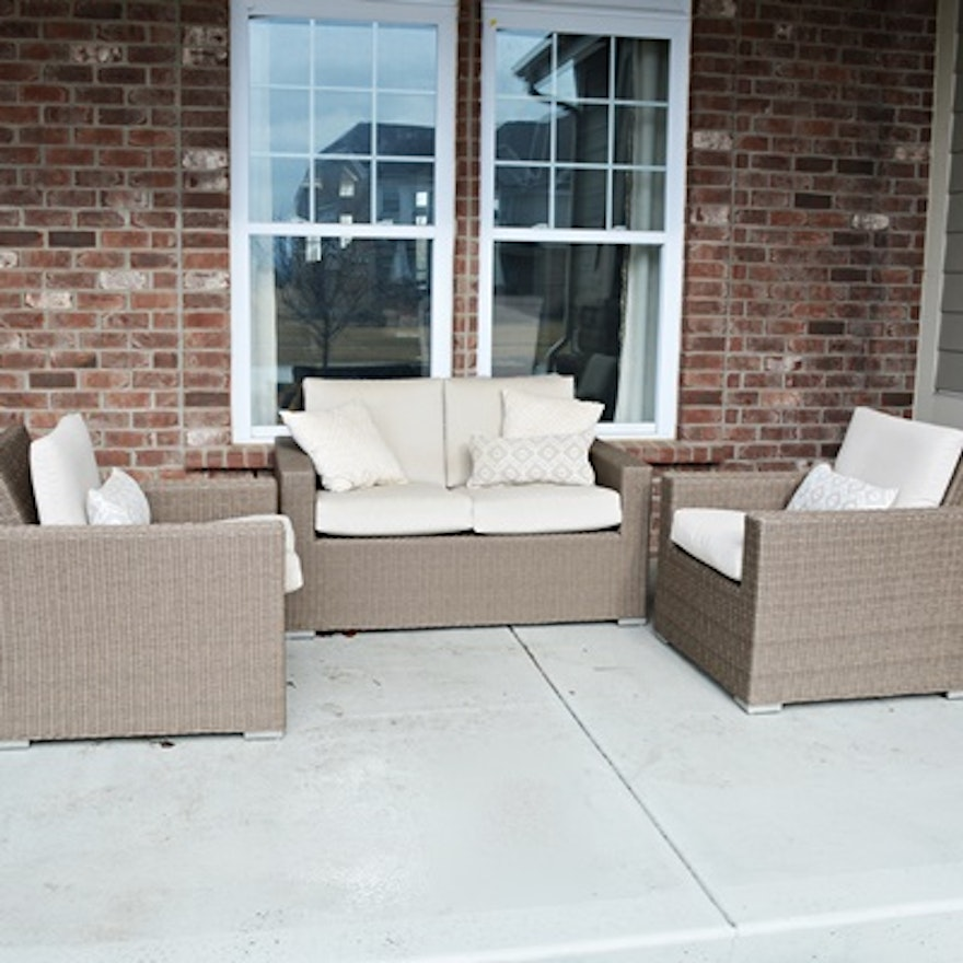 pa htm p seat resin patio loveseat walnut arm bench wicker chair outdoor glider