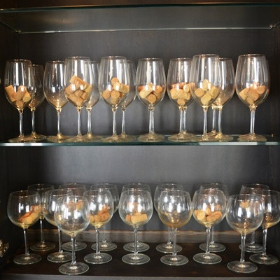 Collection of Crystal Wine Glasses