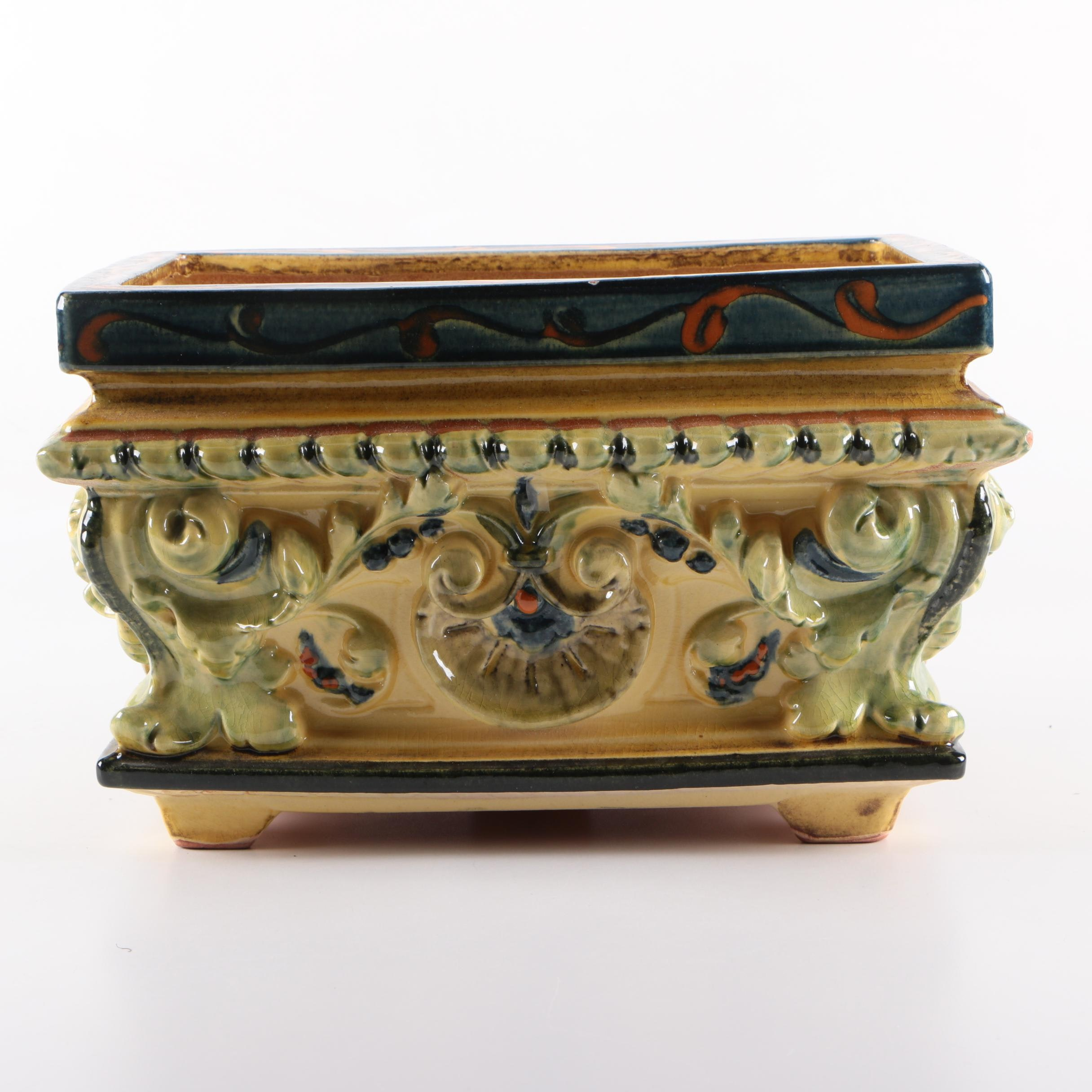 Decorative Ceramic Footed Box