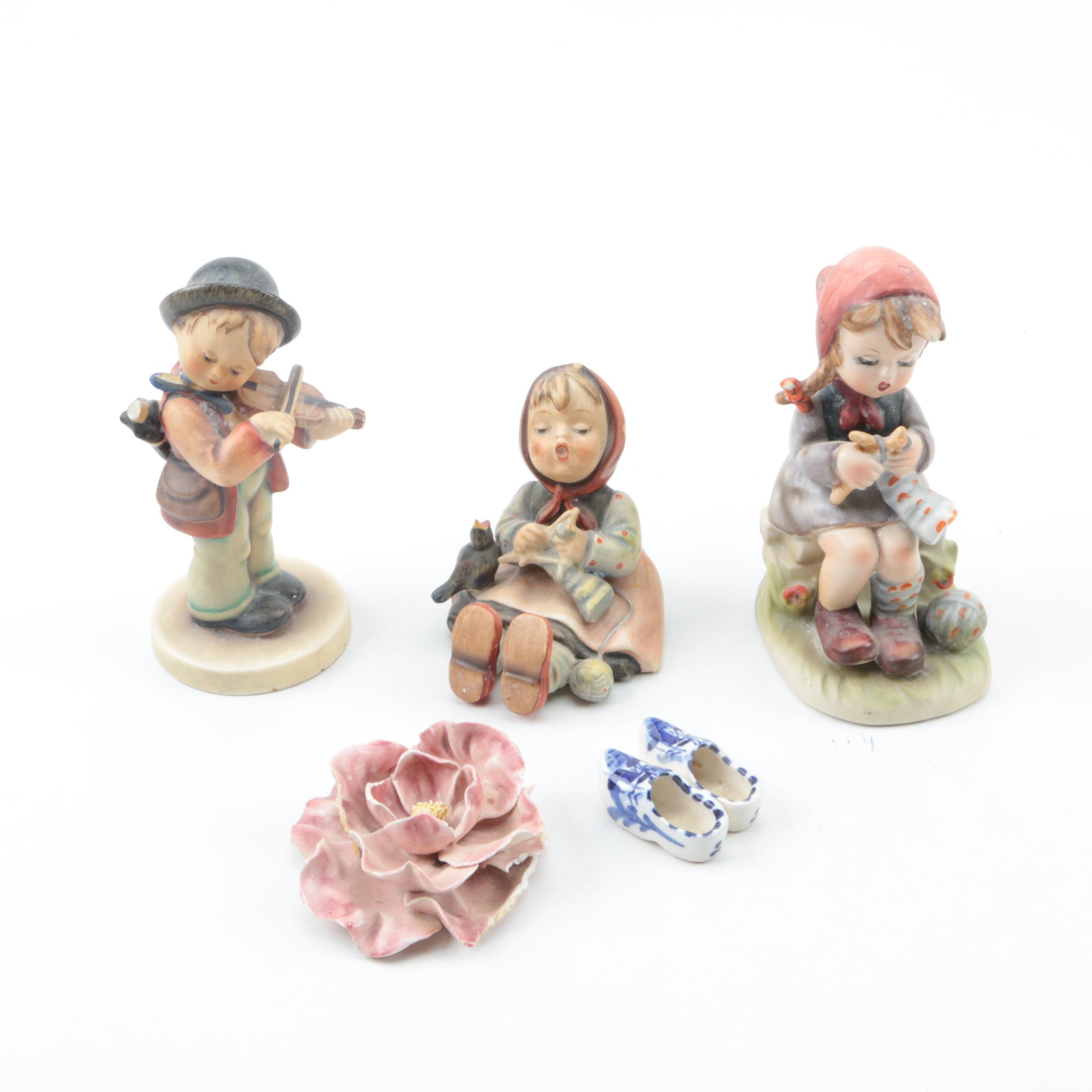 Porcelain and Ceramic Figurines Including Goebel