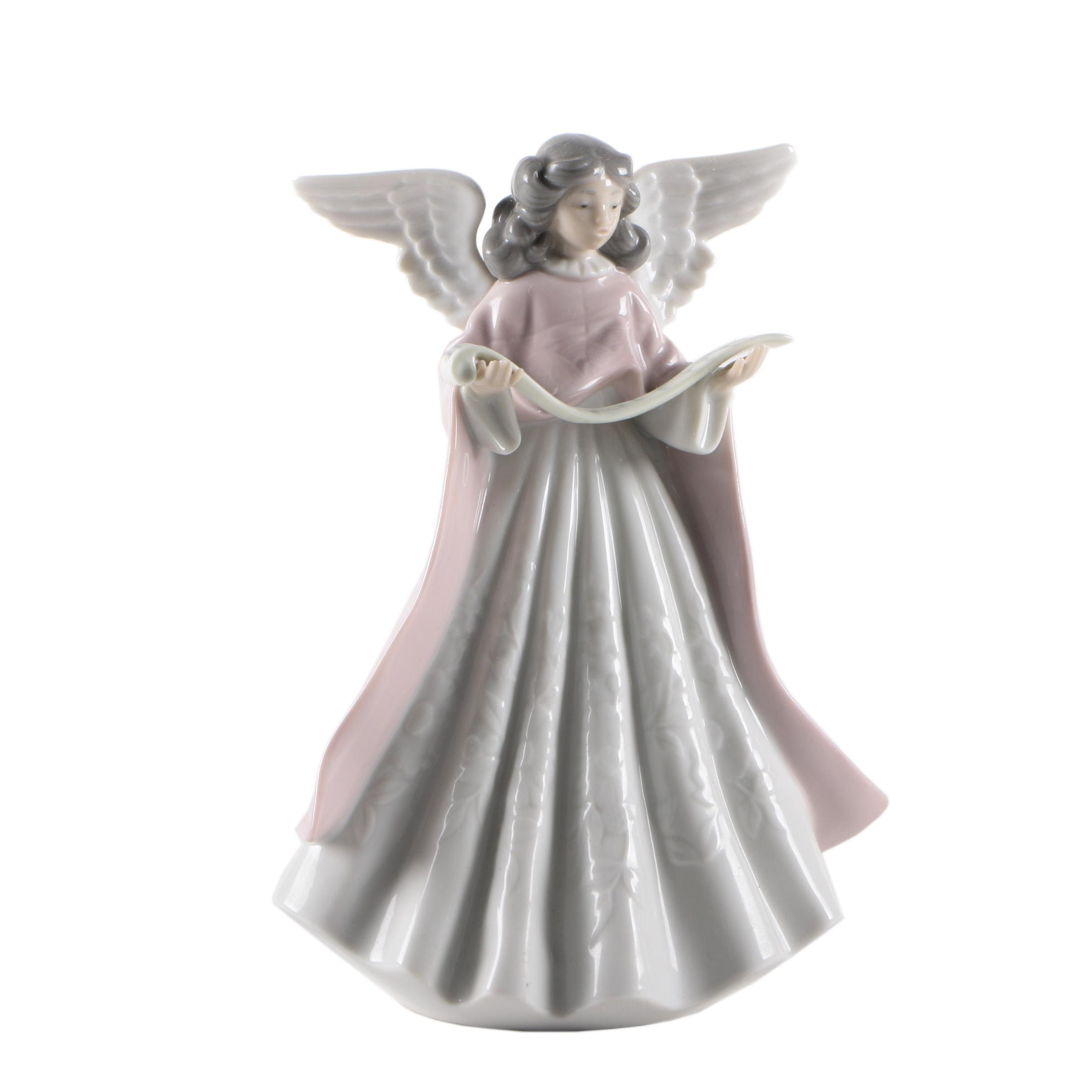 LLadro Angel Tree Topper Figurine