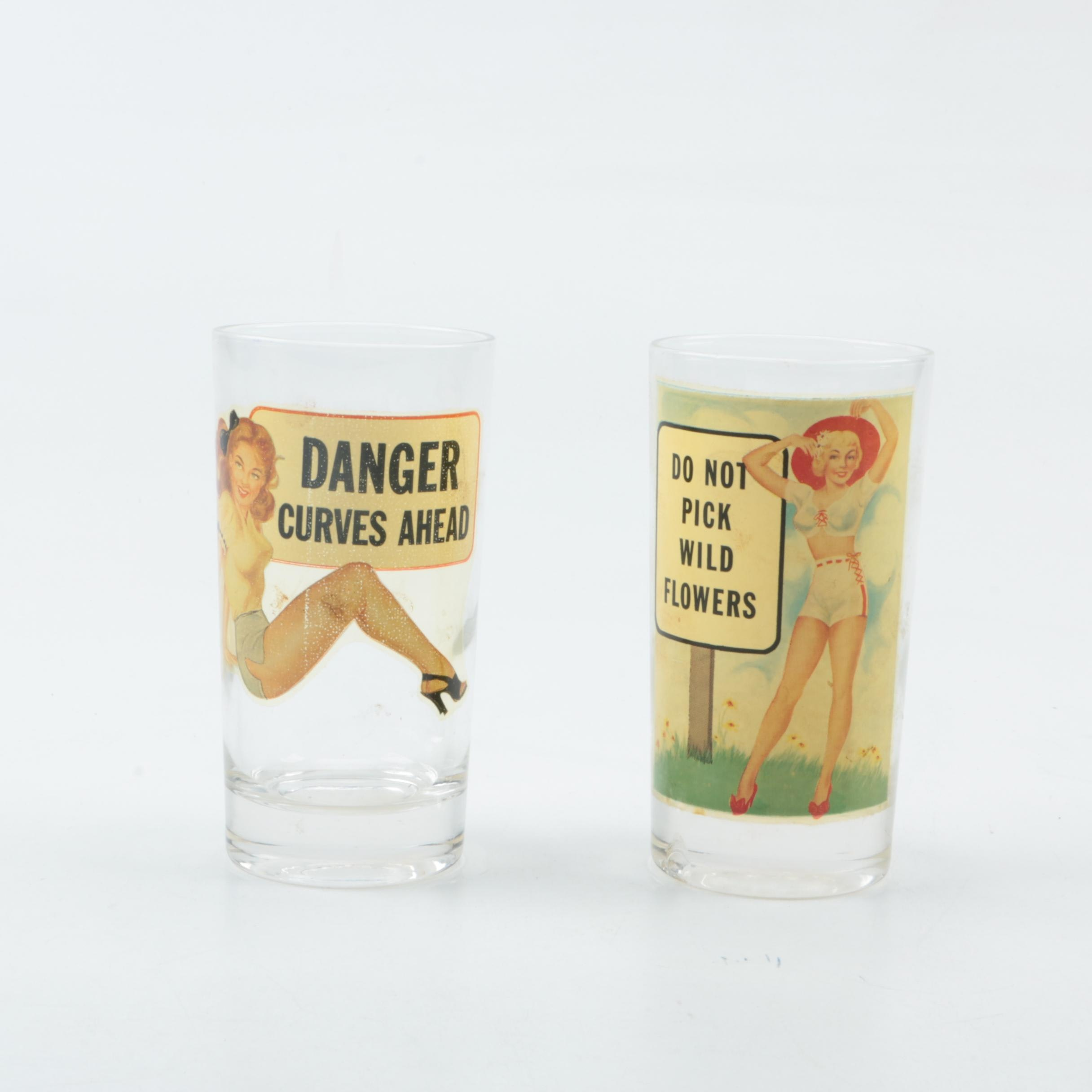 Retro Pin-Up Girl Tumblers