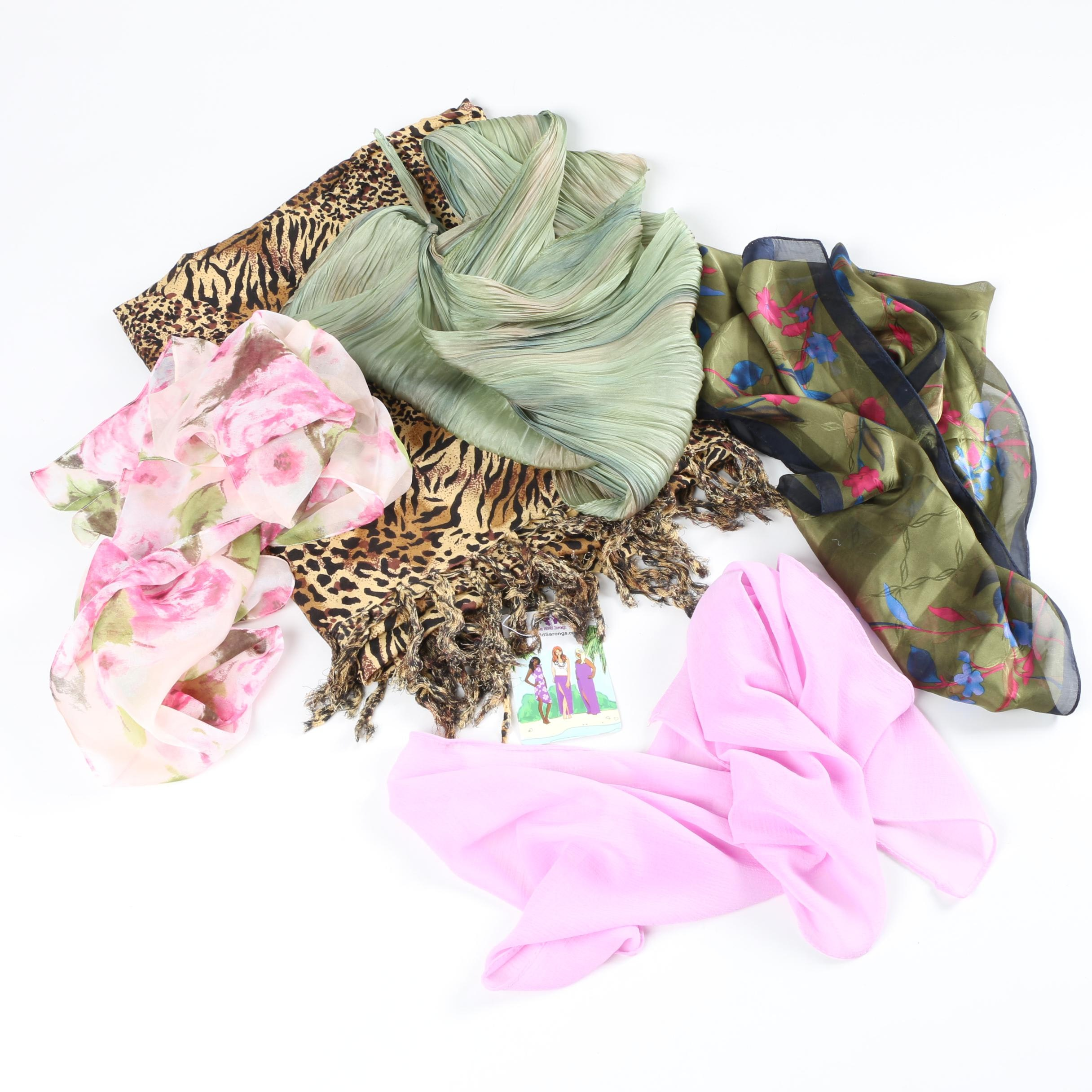 Scarves and Wraps Including Laura Ashley