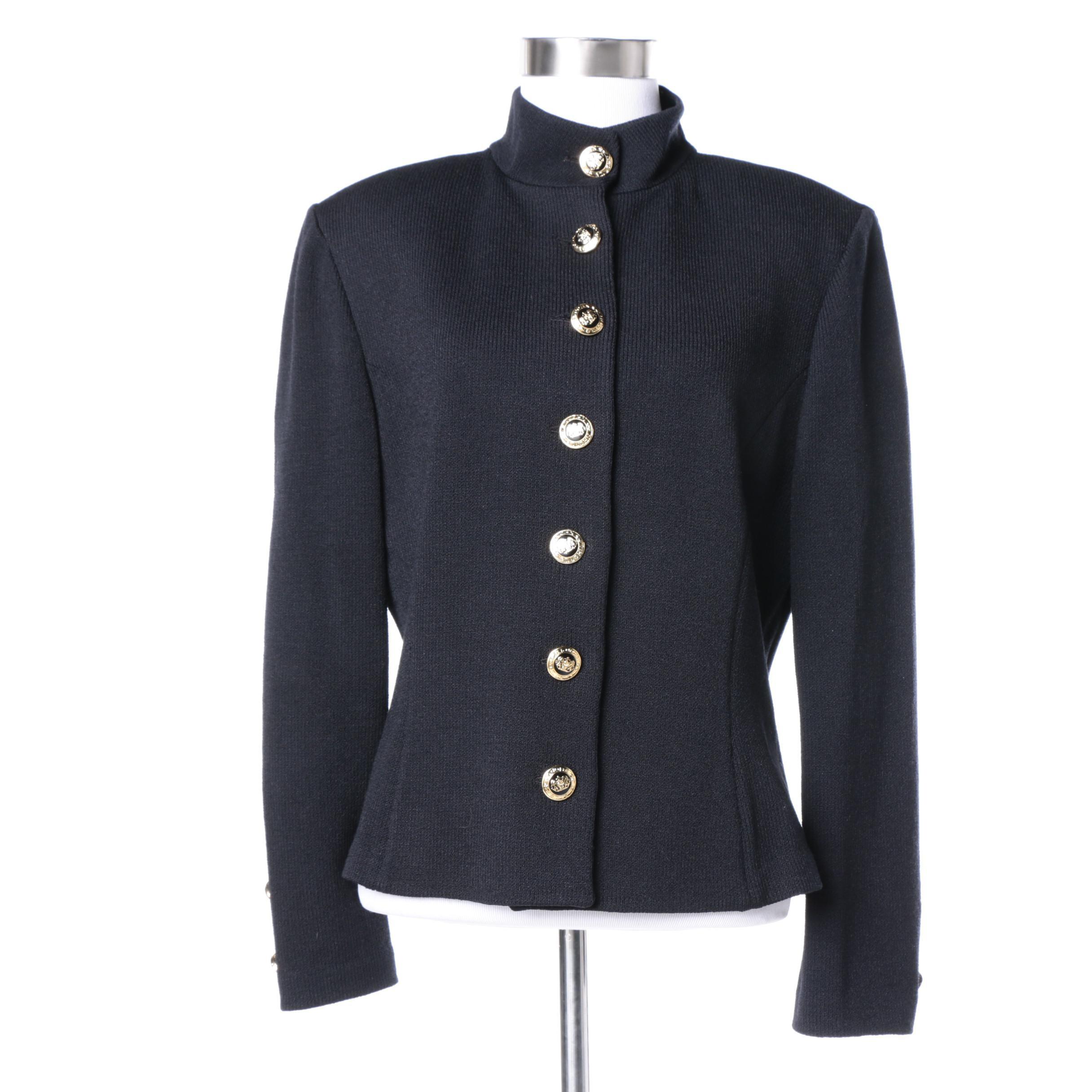 St. John Basics Black Knit Jacket