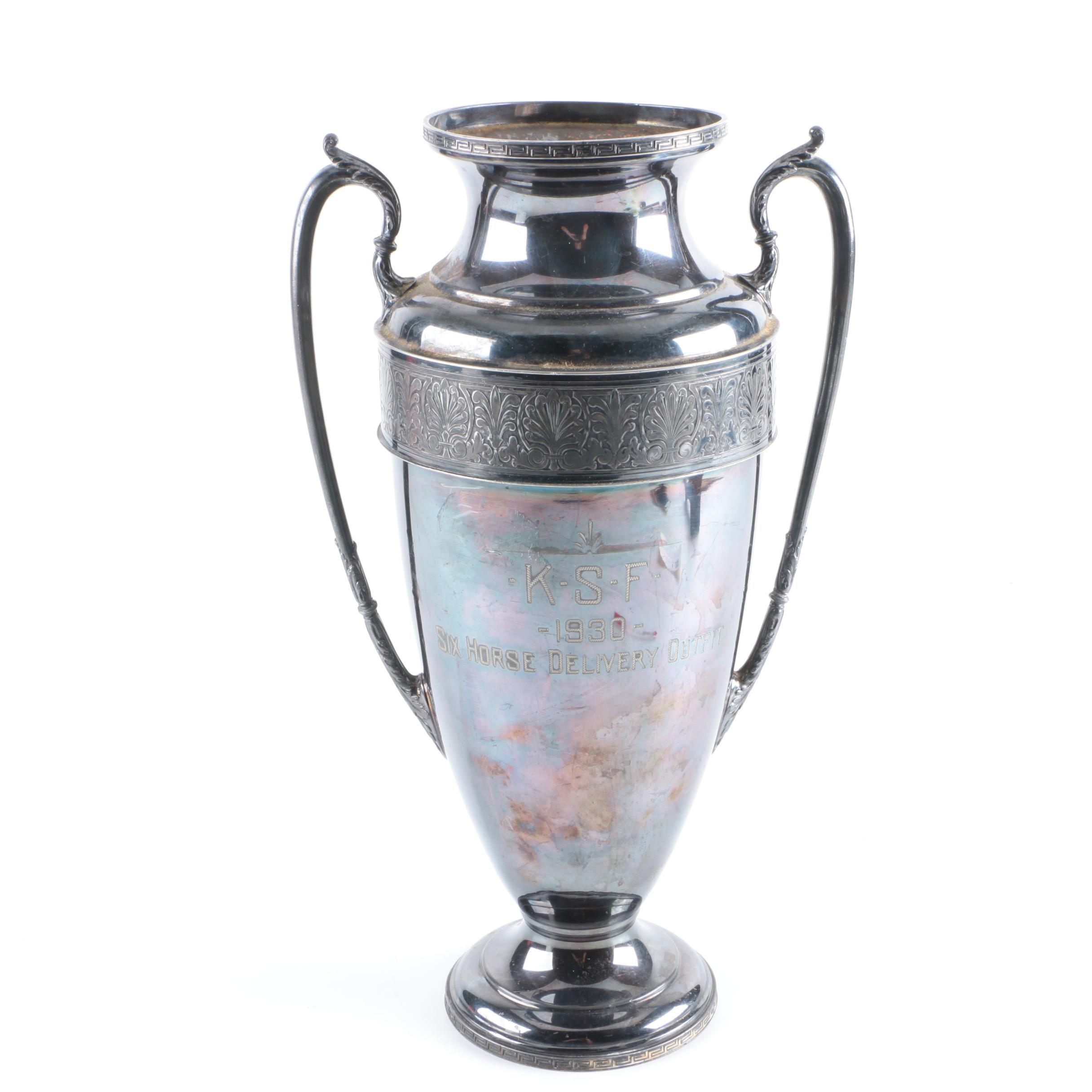 Circa 1930 Wallace Bros & Co Silver Plate Trophy