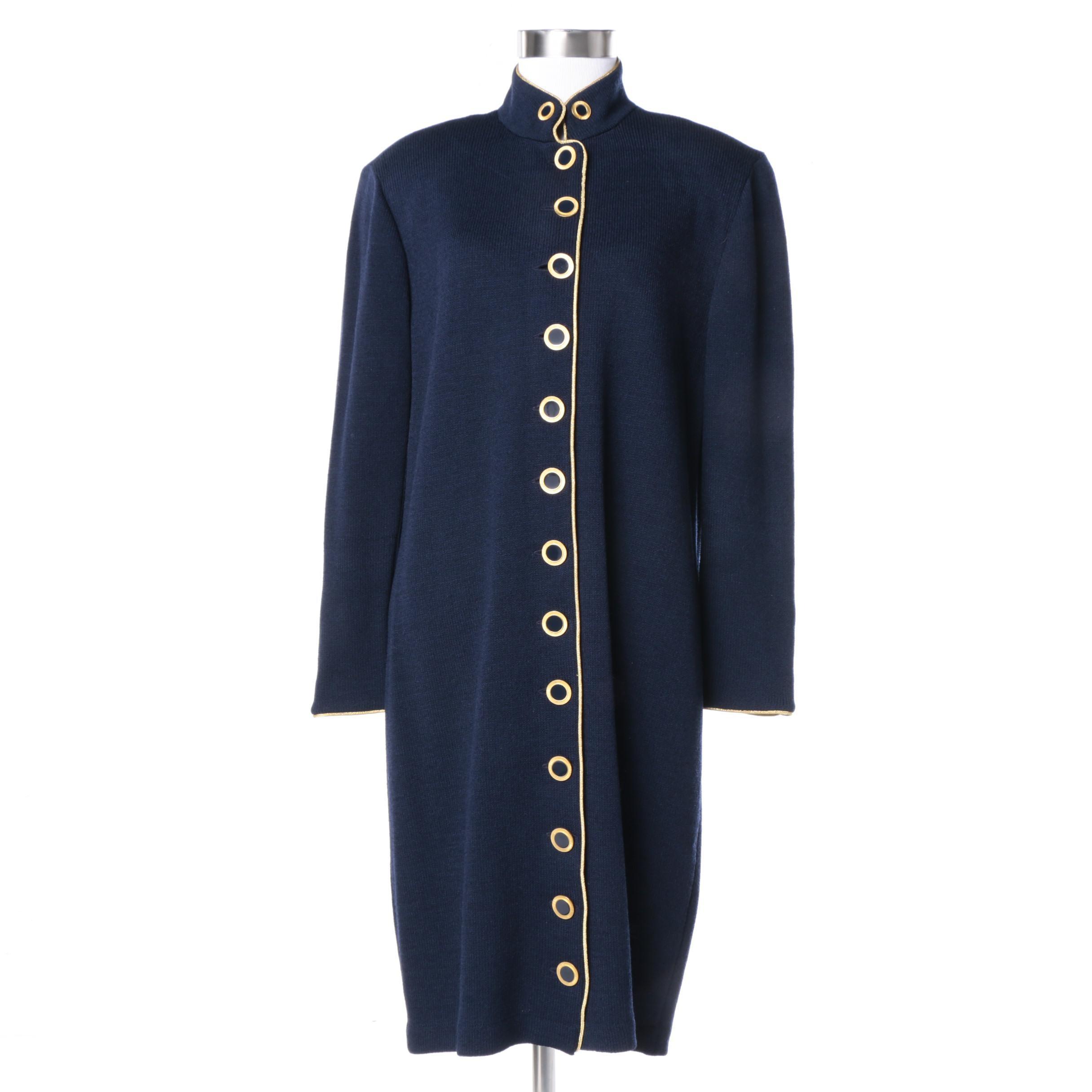 St. John Collection Navy Blue Knit Jacket