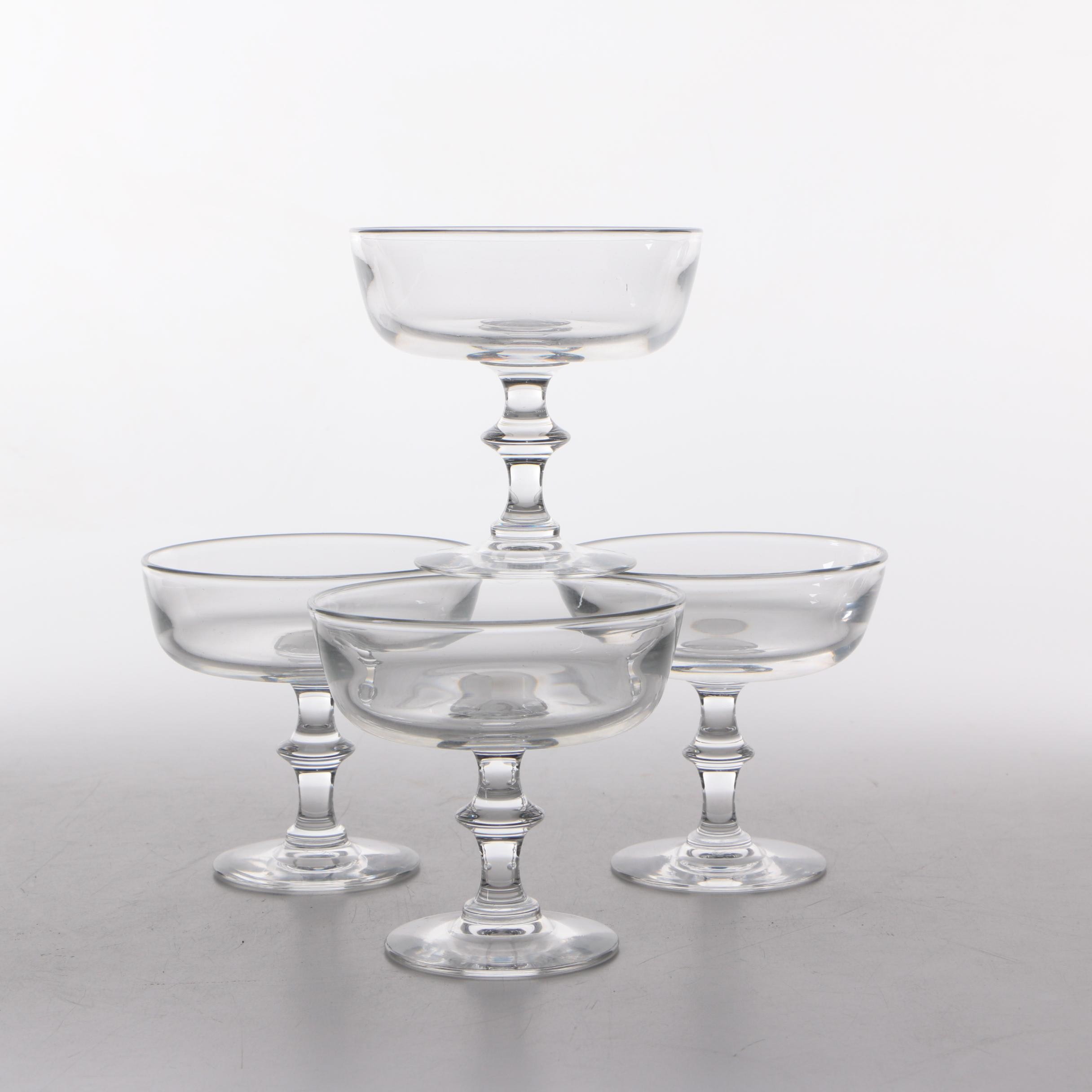 Steuben Glass Champagne Coups