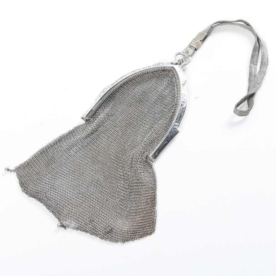 Early 20th Century Whiting And Davis Metal Mesh Evening Bag