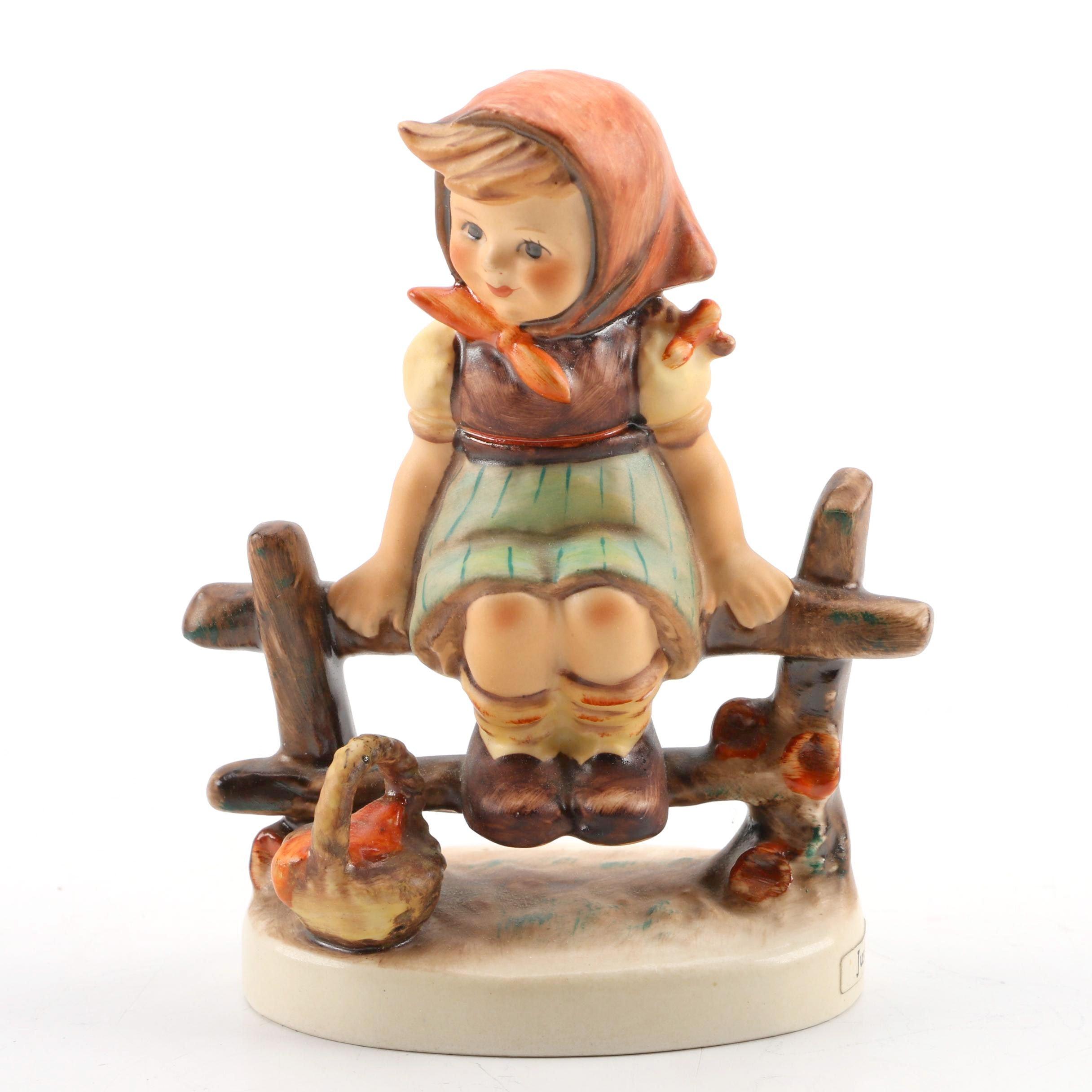 """1938 Hummel """"Just Resting"""" Porcelain Figurine"""