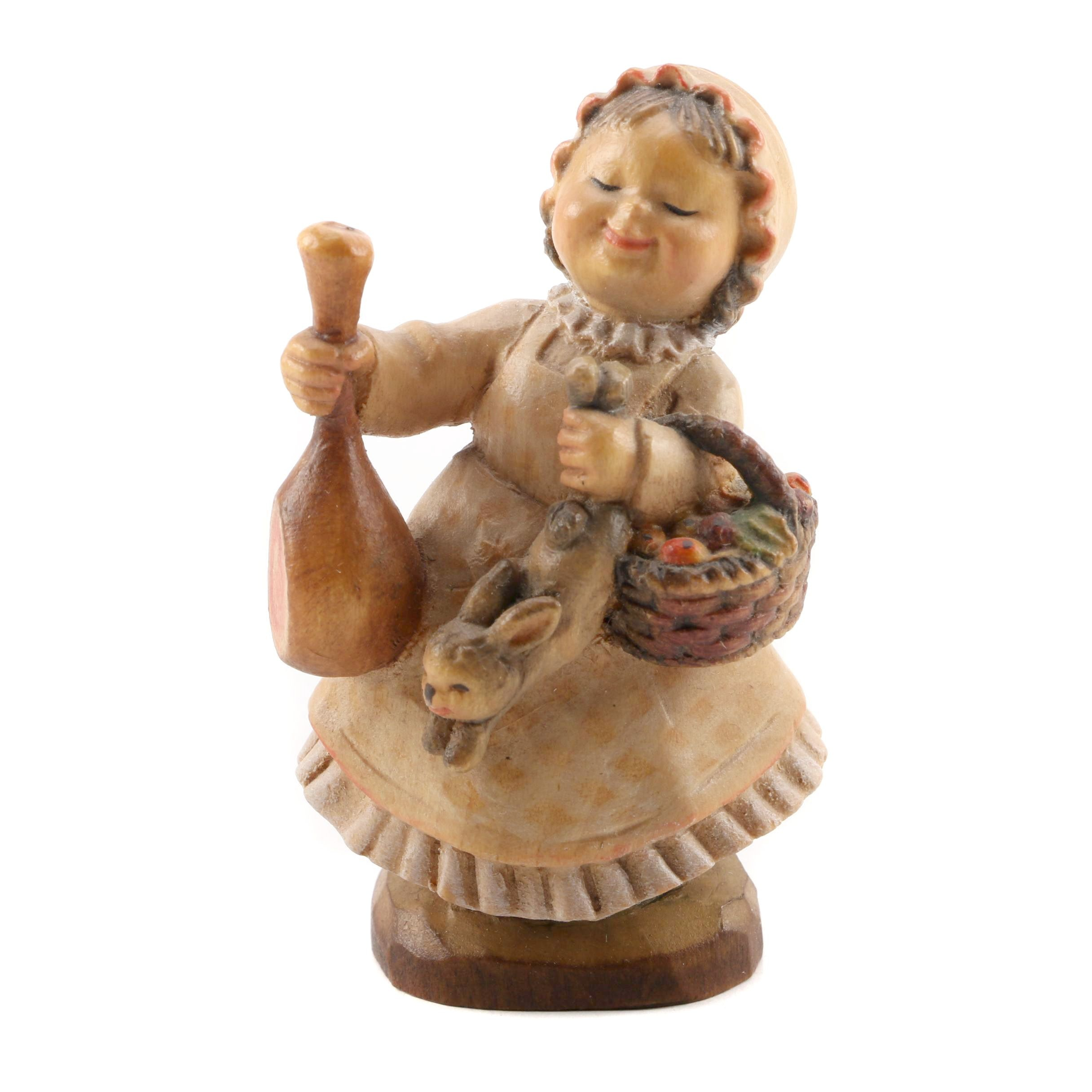 ANRI Italian Hand Carved Wooden Figurine by Jerrandie