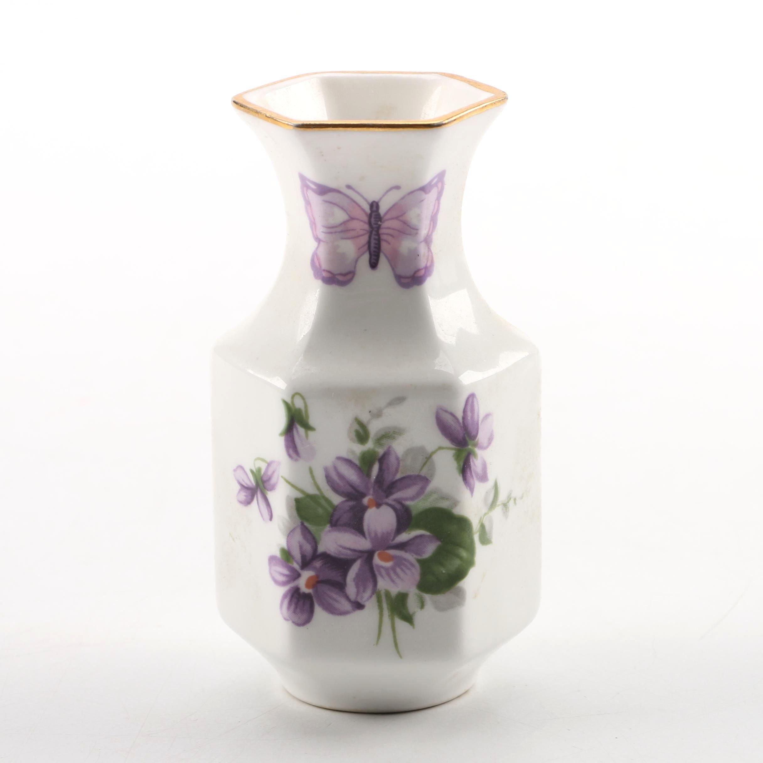 Vintage Aynsley Miniature Porcelain Vase