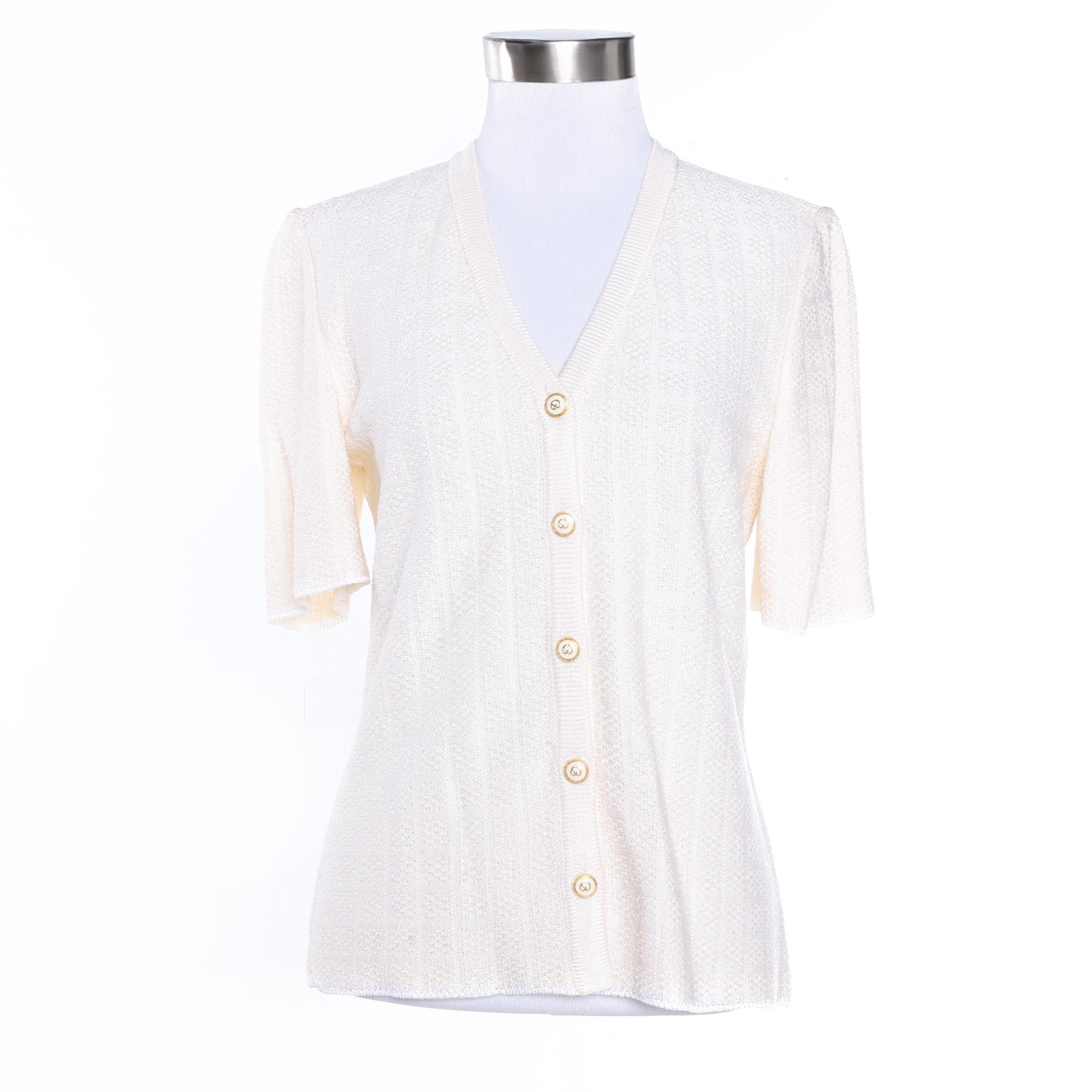 Women's St. John Collection Short Sleeved Knit Cardigan