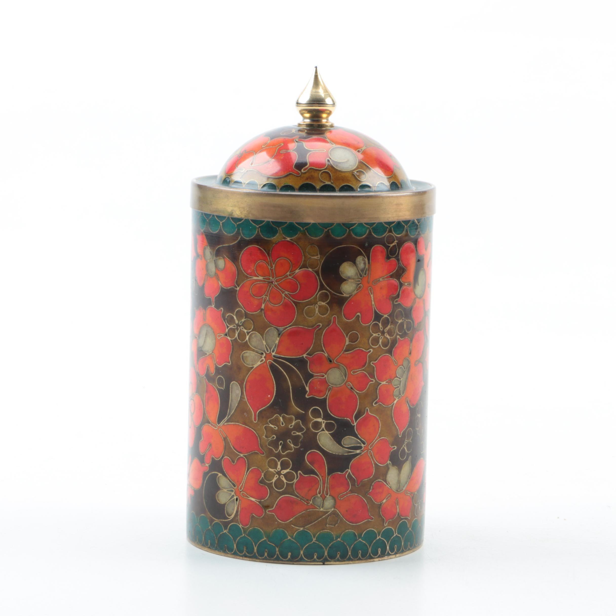 Lidded Cloisonné Jar