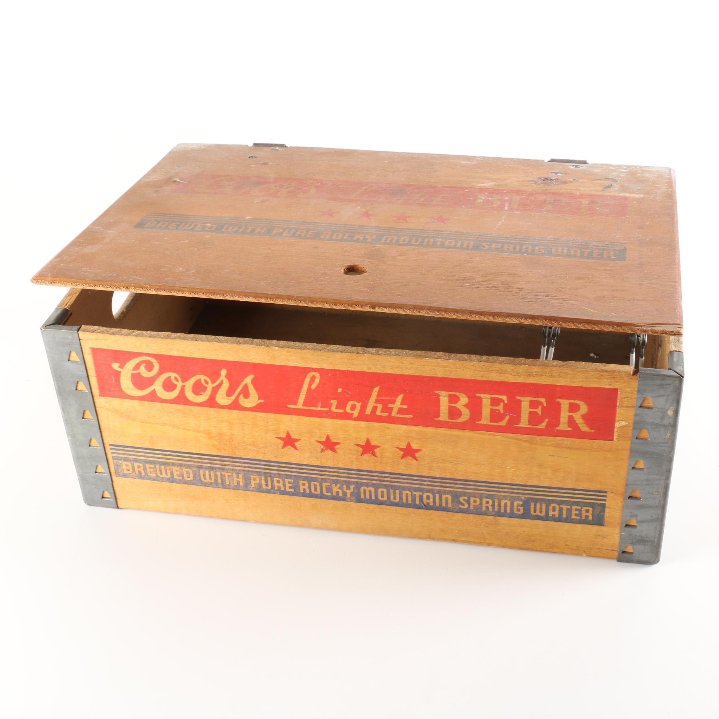 Vintage Coors Light Beer Crate
