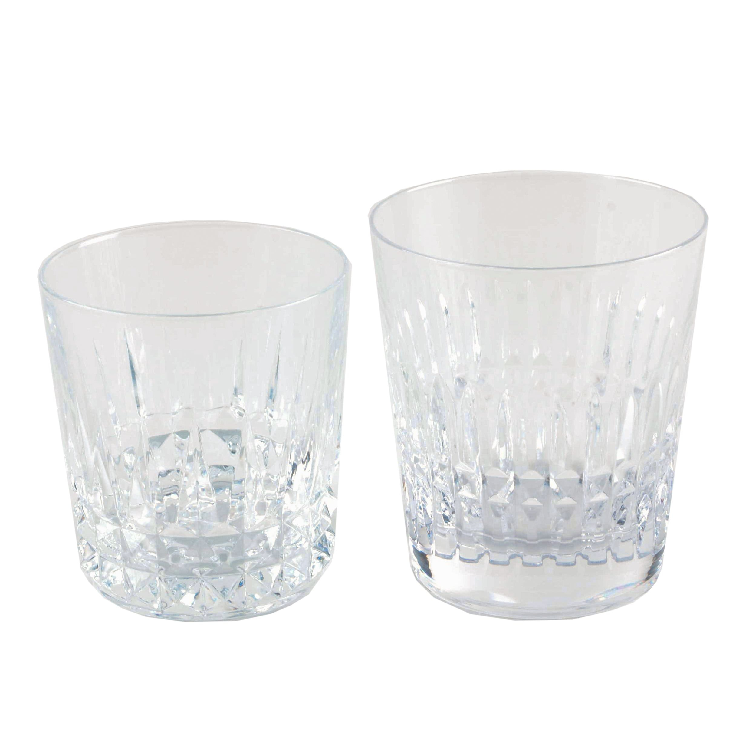 Crystal Rock Glasses Featuring Bayel Cristal