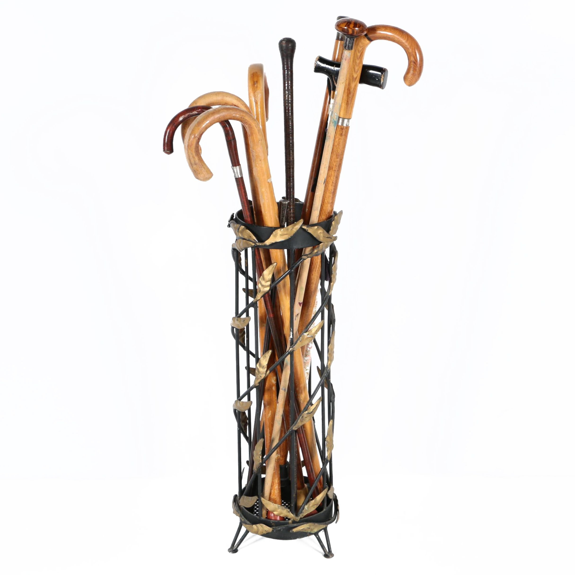 Canes and Walking Sticks Including Cane Sword and Metal Stand