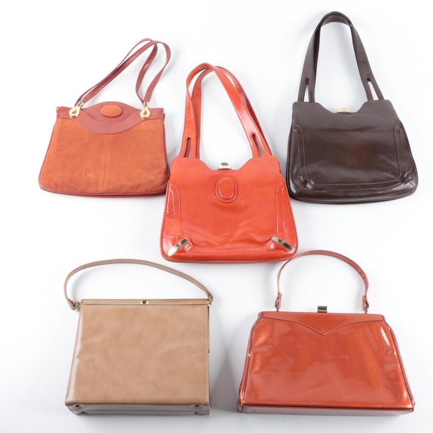 Vintage Handbags Including Lou Taylor And Andrew Geller