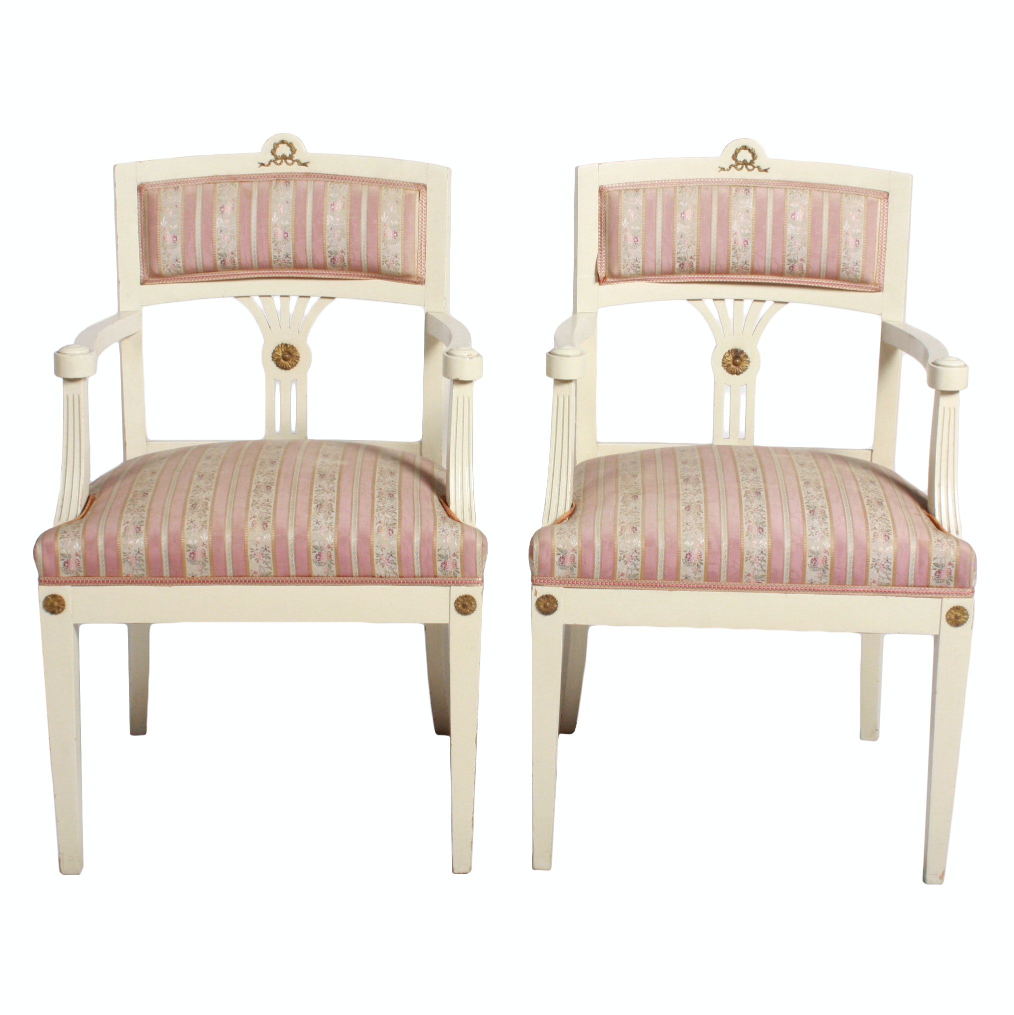 Pair Of Swedish Gustavian Style Armchairs ...