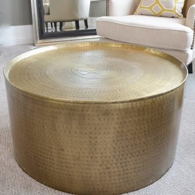 Brass Drum Coffee Table ...