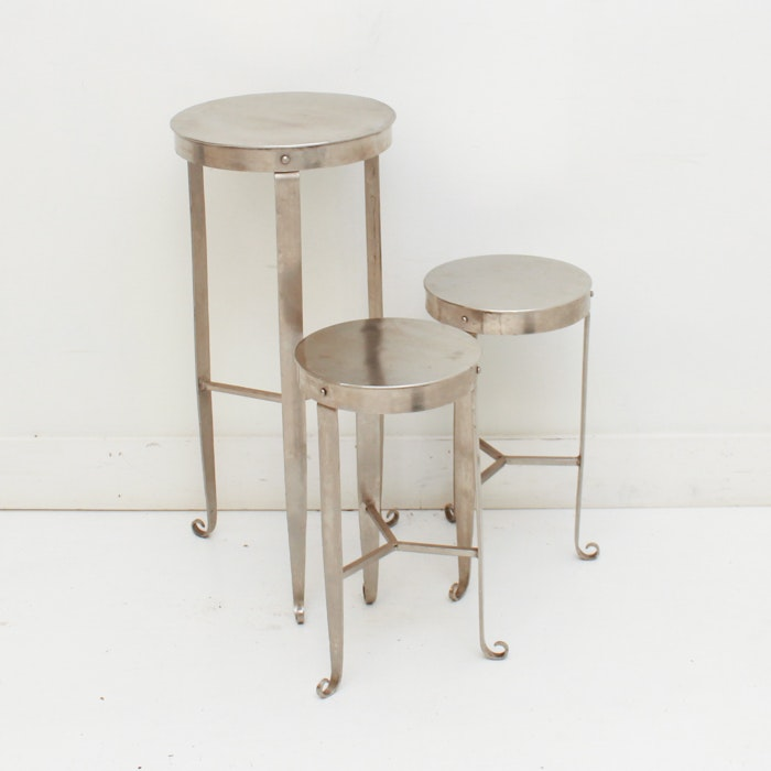 Set of Industrial Style Plant Stands