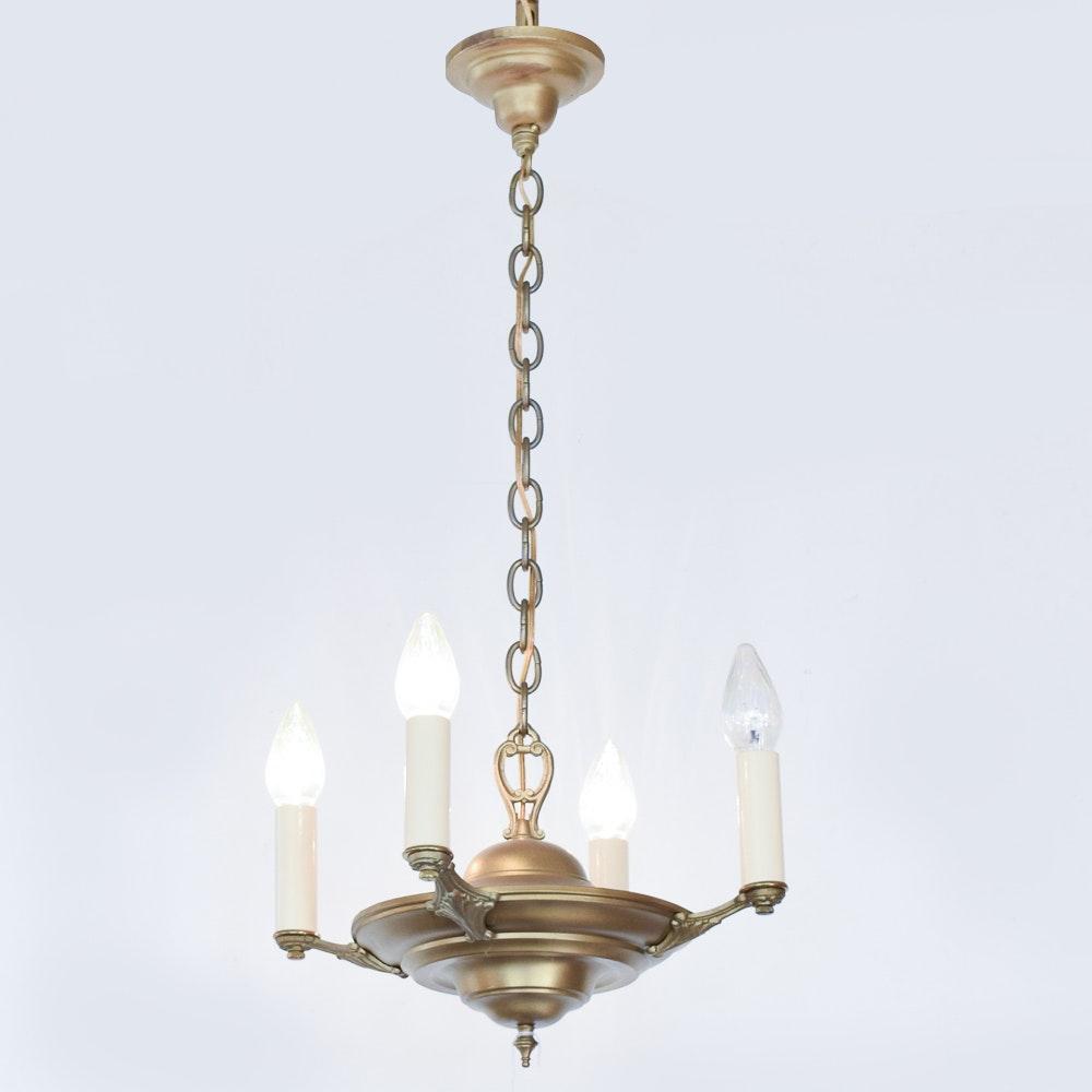 Vintage Brass Candelabra Chandelier