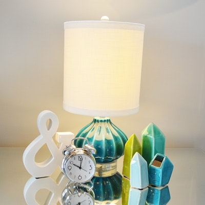 Ceramic Table Lamp and Other Room Decor
