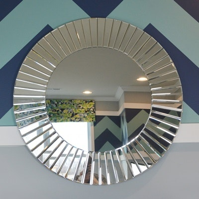 Contemporary Mirrored Panel Wall Mirror