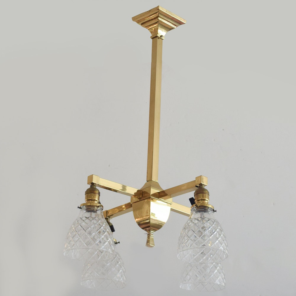Brass Flush Mount Ceiling Fixture