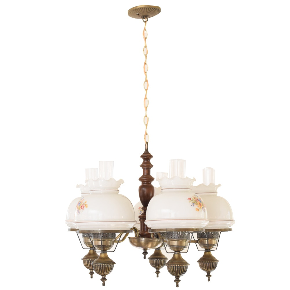 Vintage Five Lamp Chandelier