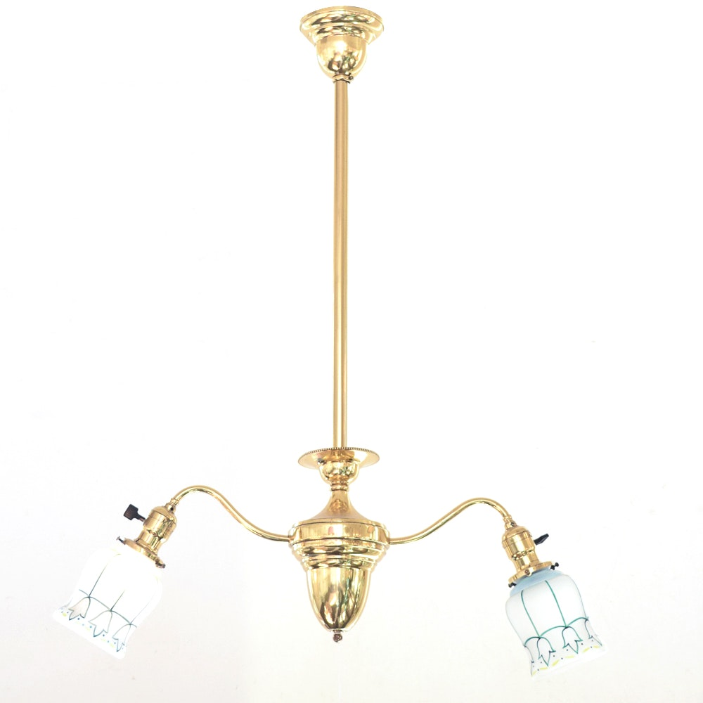 Antique Brass Pendant Ceiling Fixture