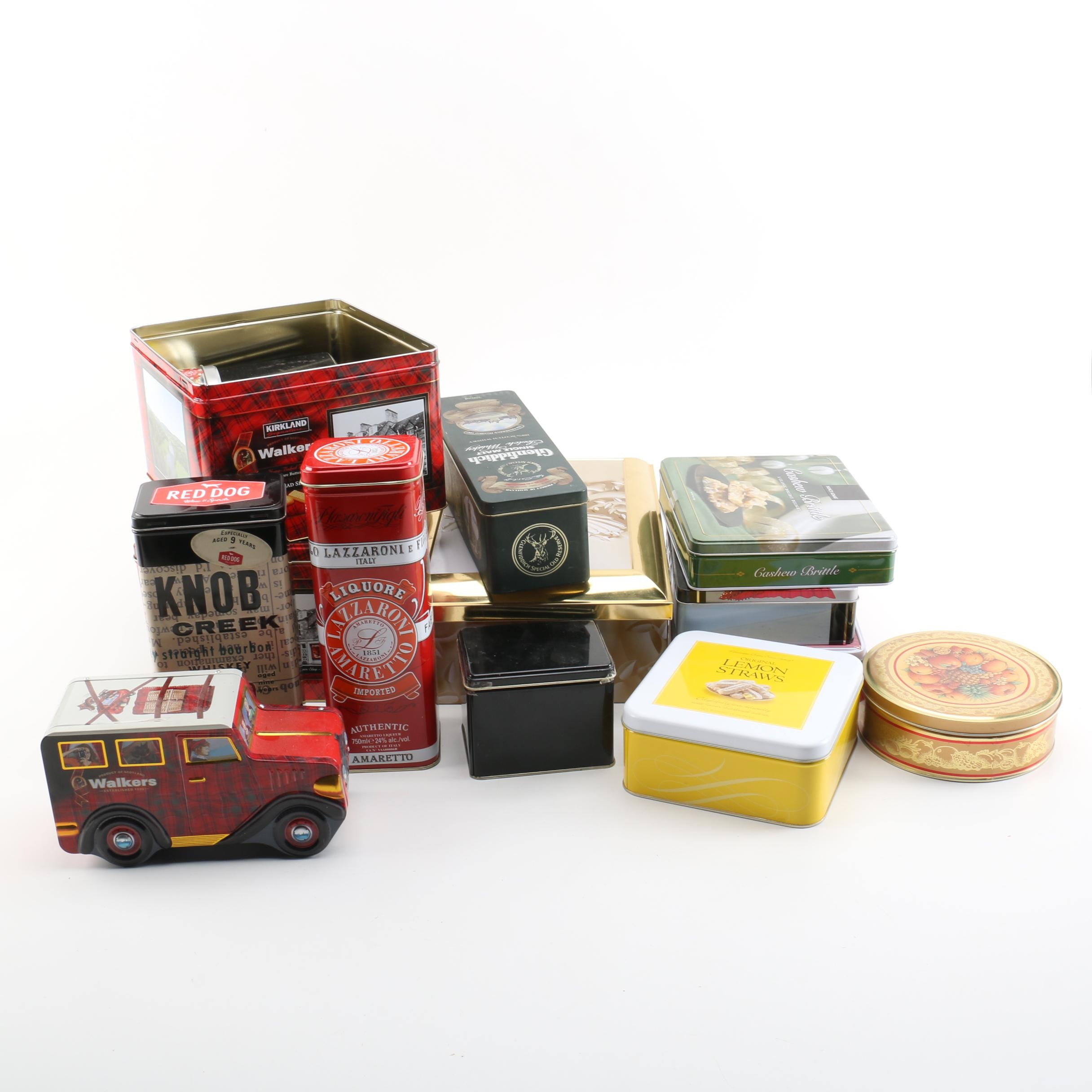 Knob Creek, Walkers Shortbread Cookies and Other Tins