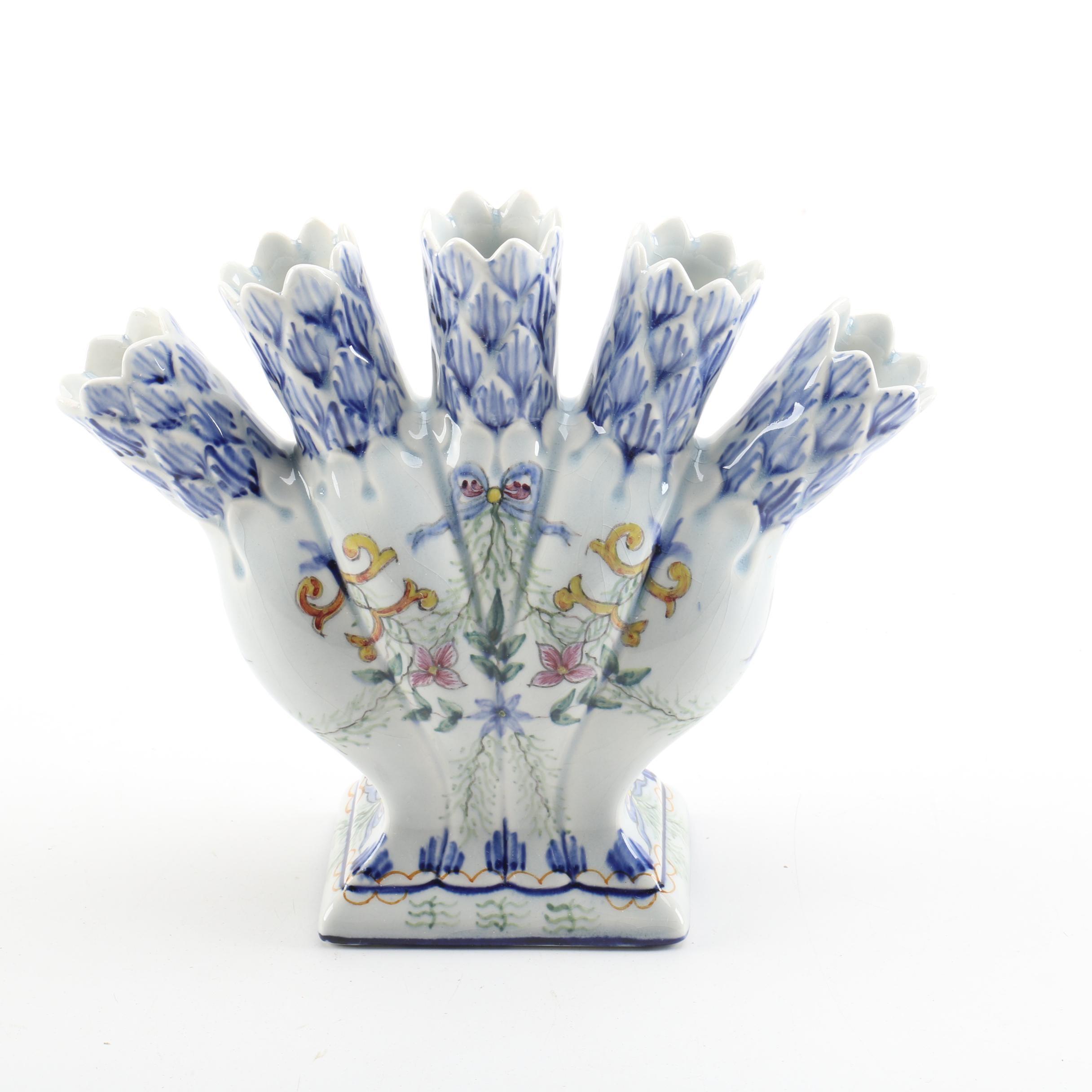 Portuguese Fäience Flower Vase