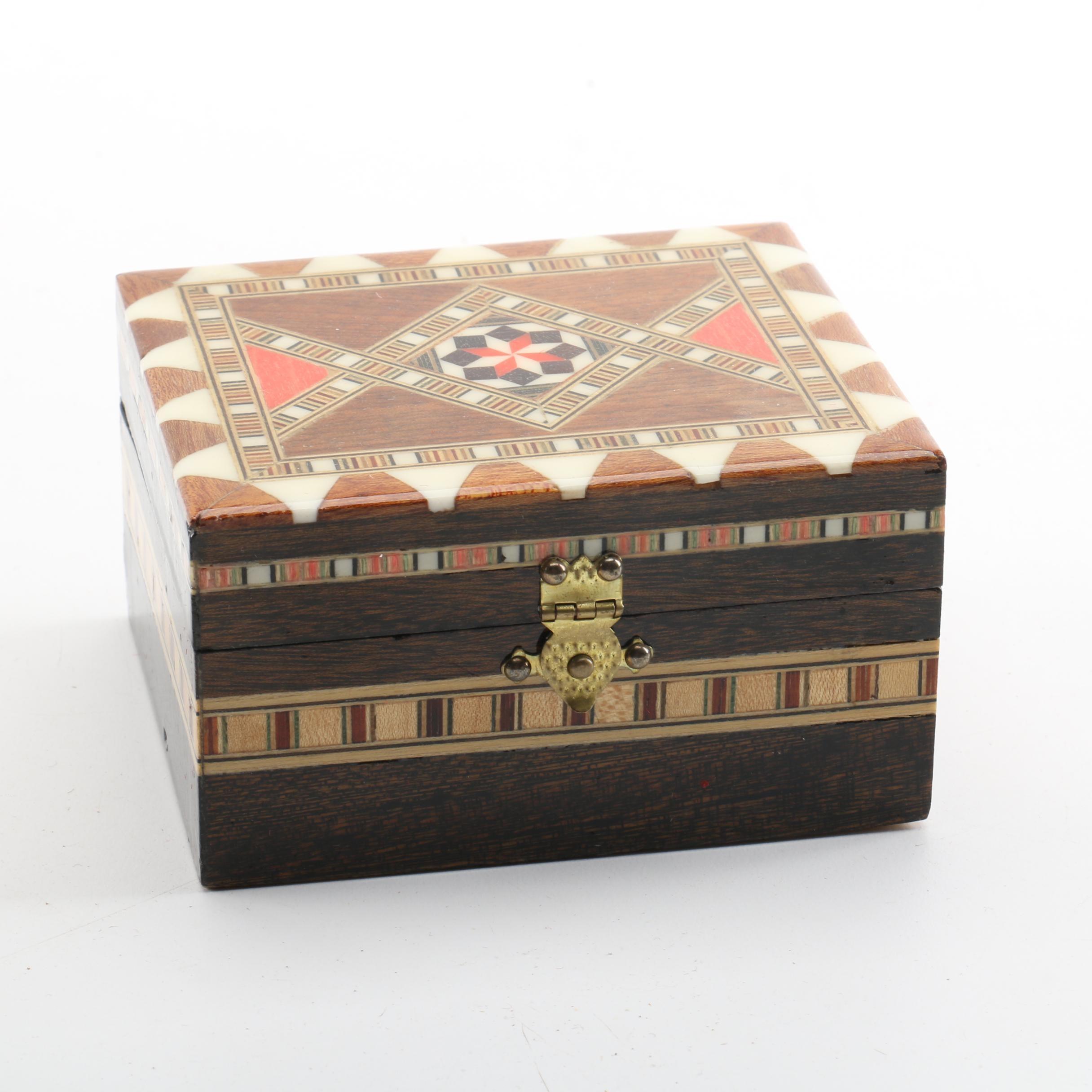 Small Inlaid Wood Box