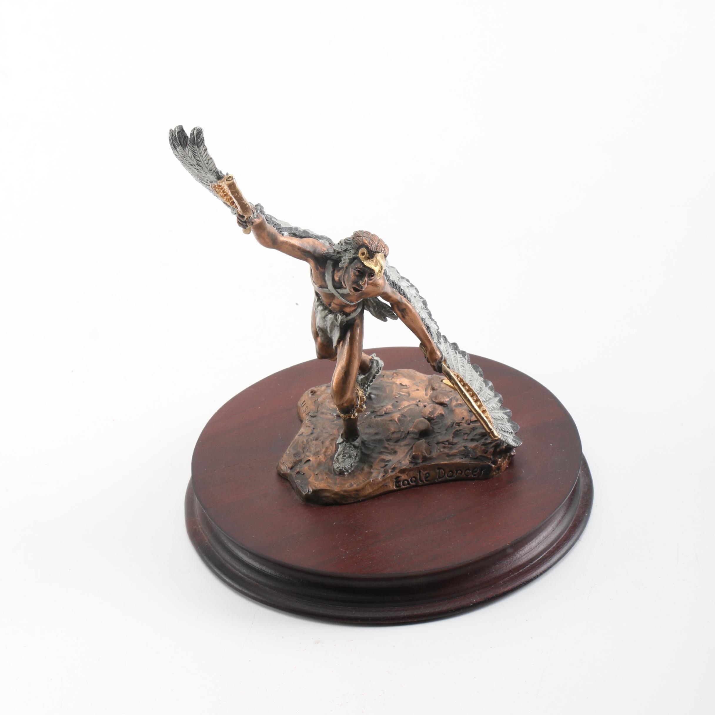 "C. A. Pardell Limited Edition Metal Sculpture ""Eagle Dancer"""