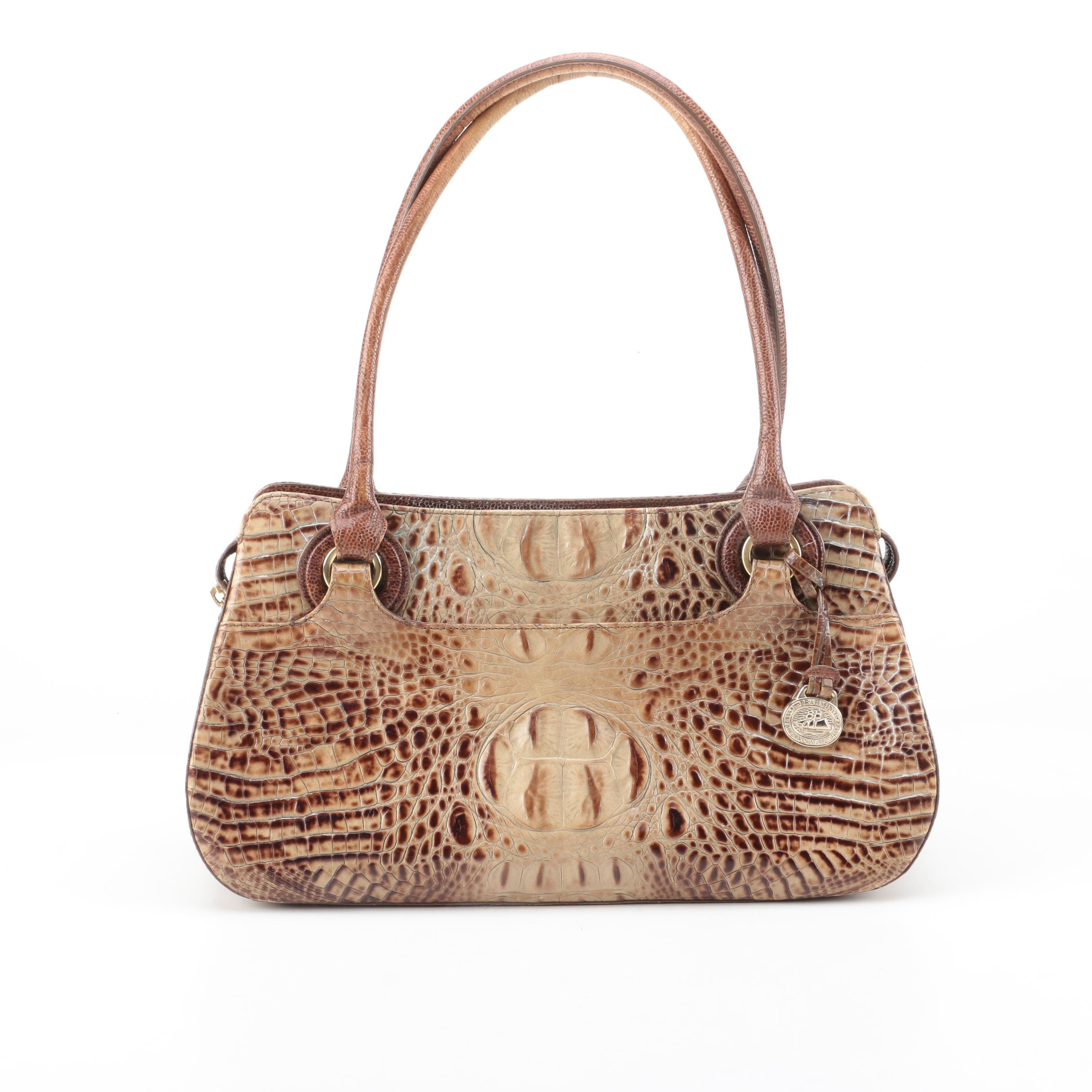 Brahmin Crocodile Embossed Leather Handbag