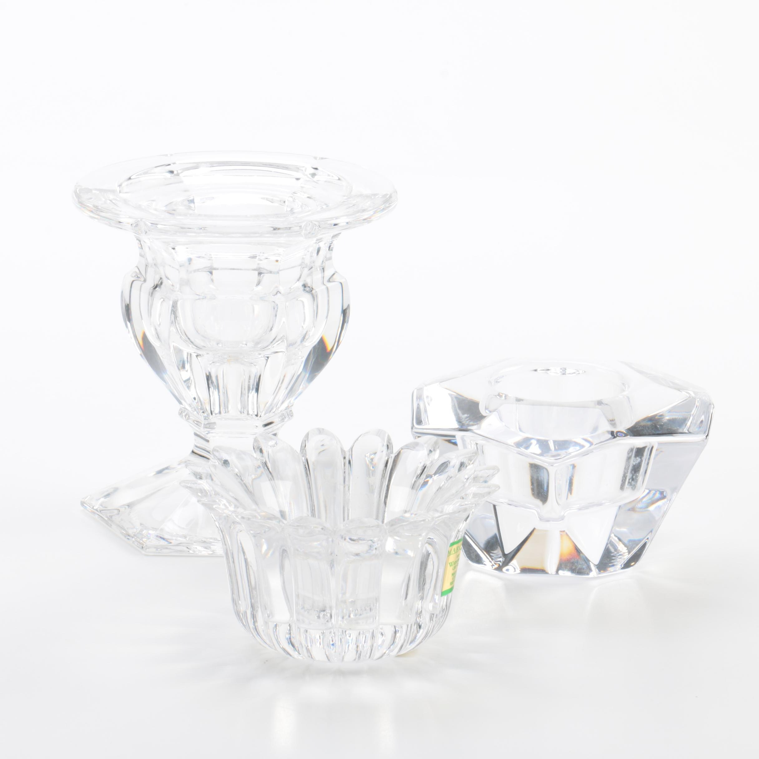 Waterford, Orrefors, and Royal Doulton Crystal Votives
