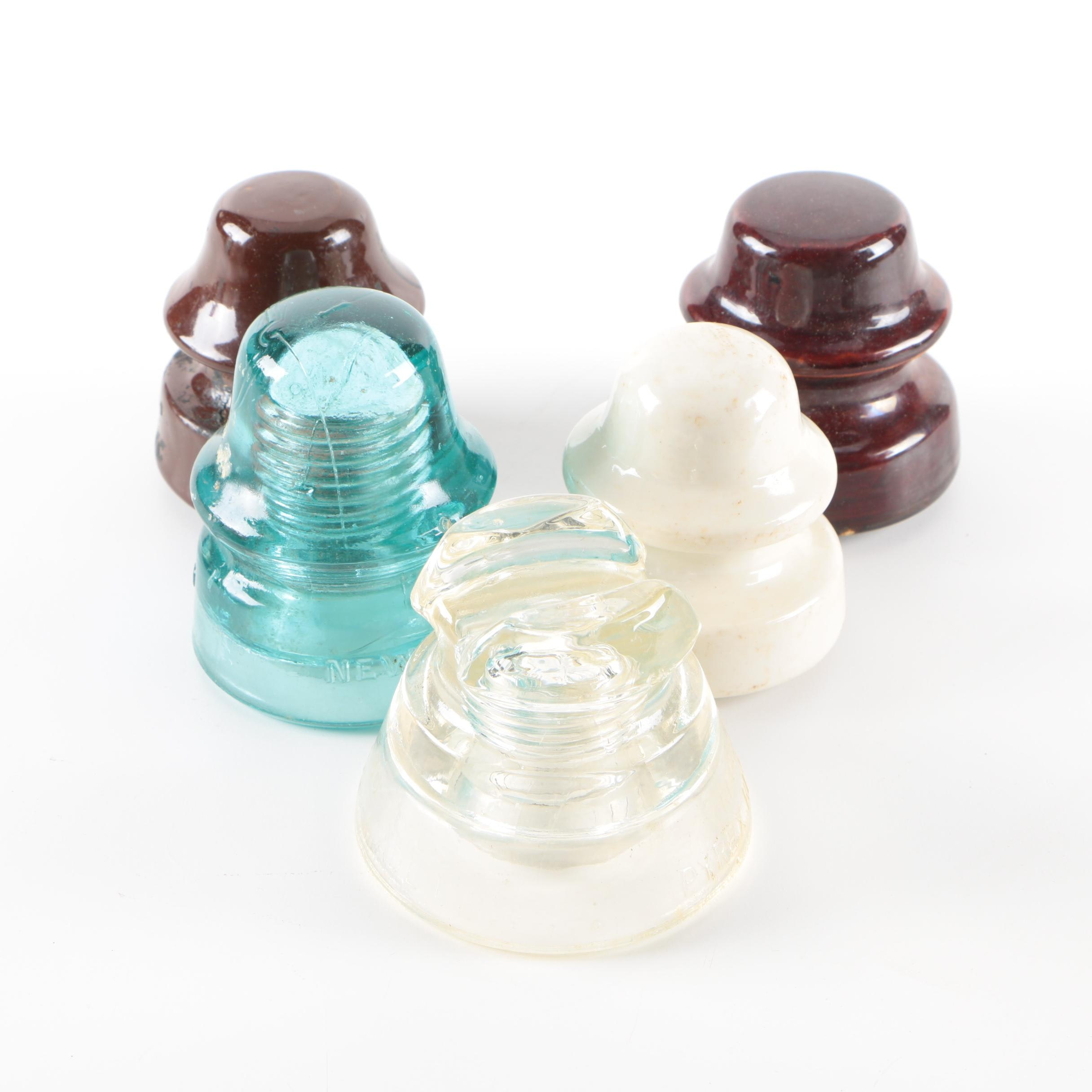 Vintage Glass and Ceramic Insulators